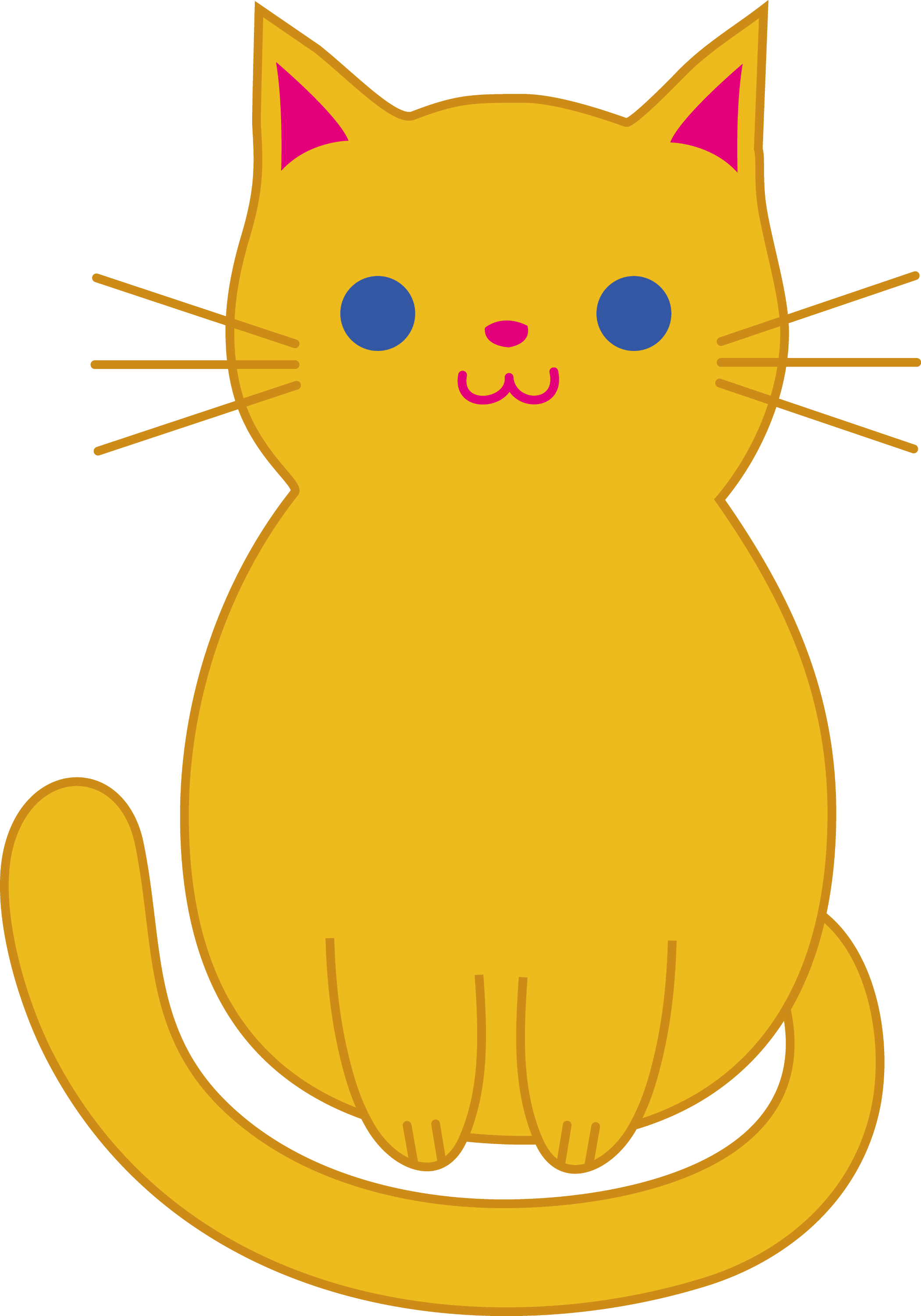 Cute Orange Cat Clip Art - Free Clip Art