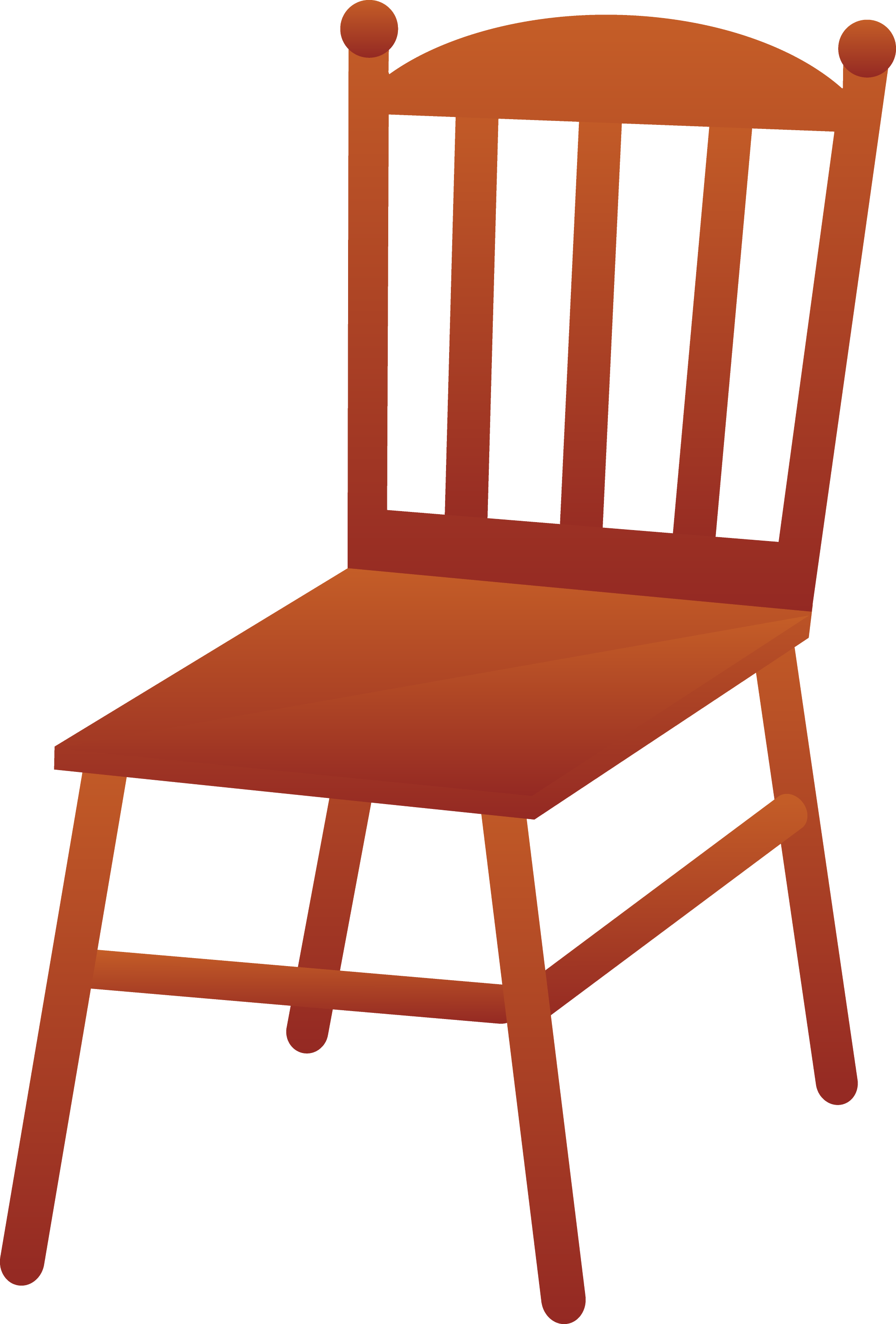 Brown Wooden Chair - Free Clip Art
