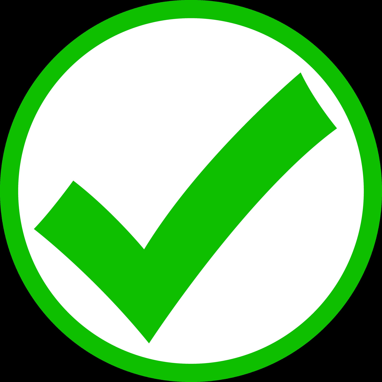 Green Check Mark in Circle  Free Clip Art