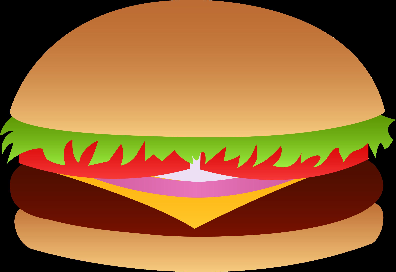 Cheeseburger vector free clip art for Hamburger clipart