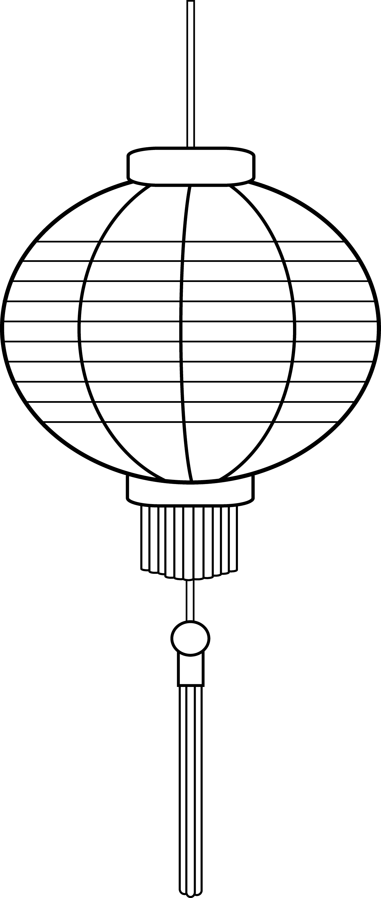 chinese lantern coloring pages - photo#7