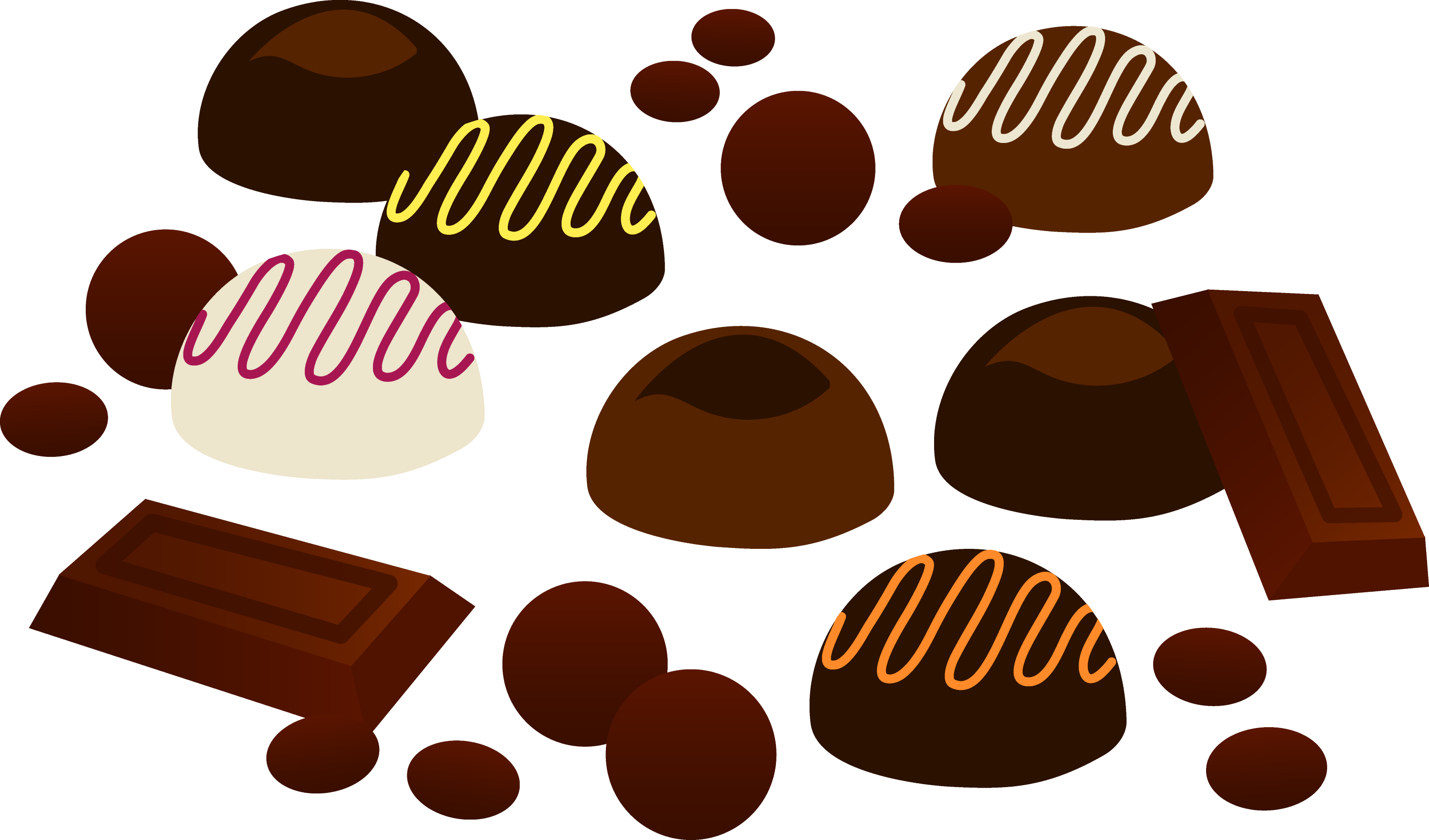 assorted pieces of chocolates free clip art rh sweetclipart com chocolate clipart images chocolate clipart free