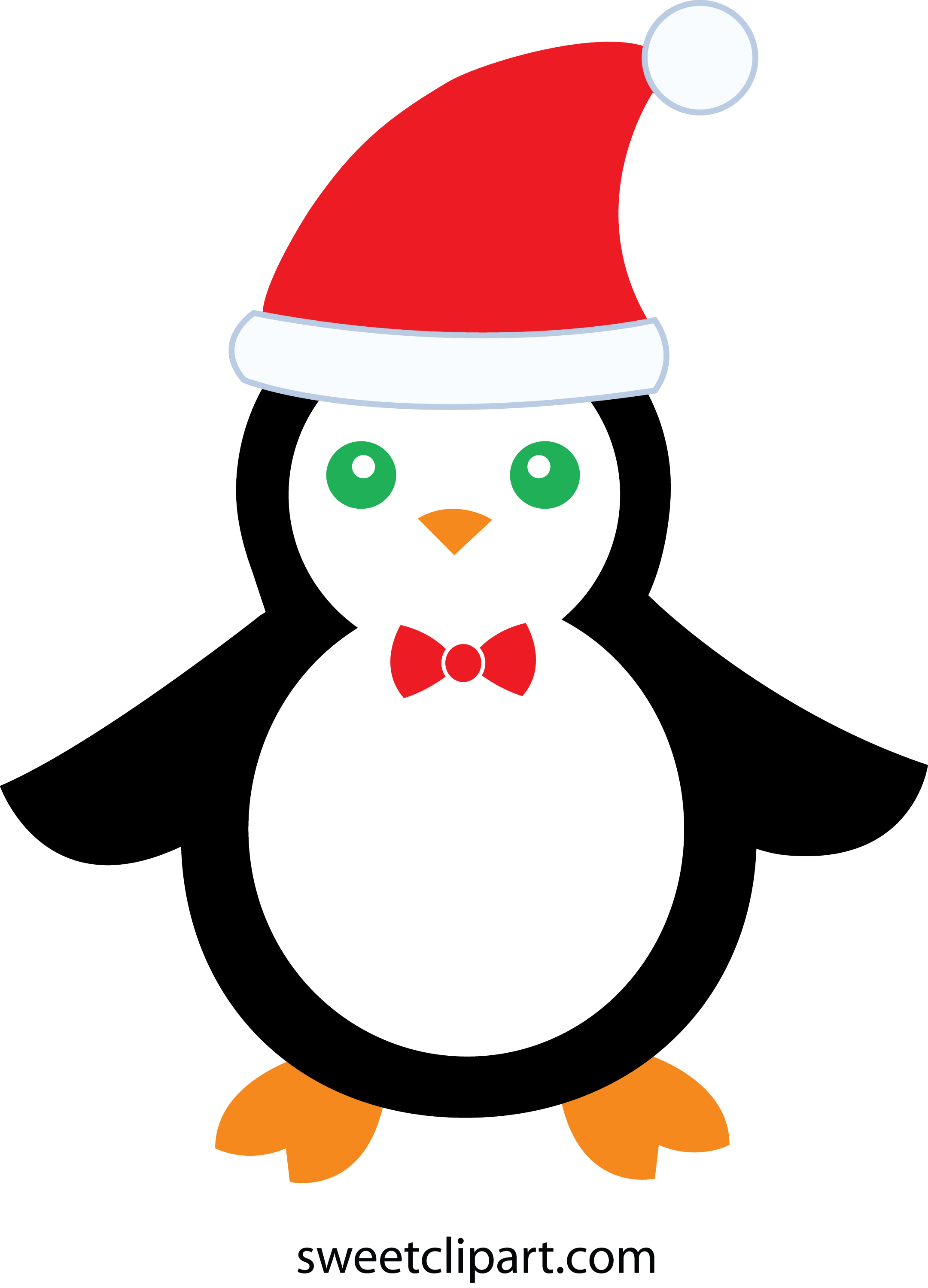 Cute Christmas Penguin - Free Clip Art