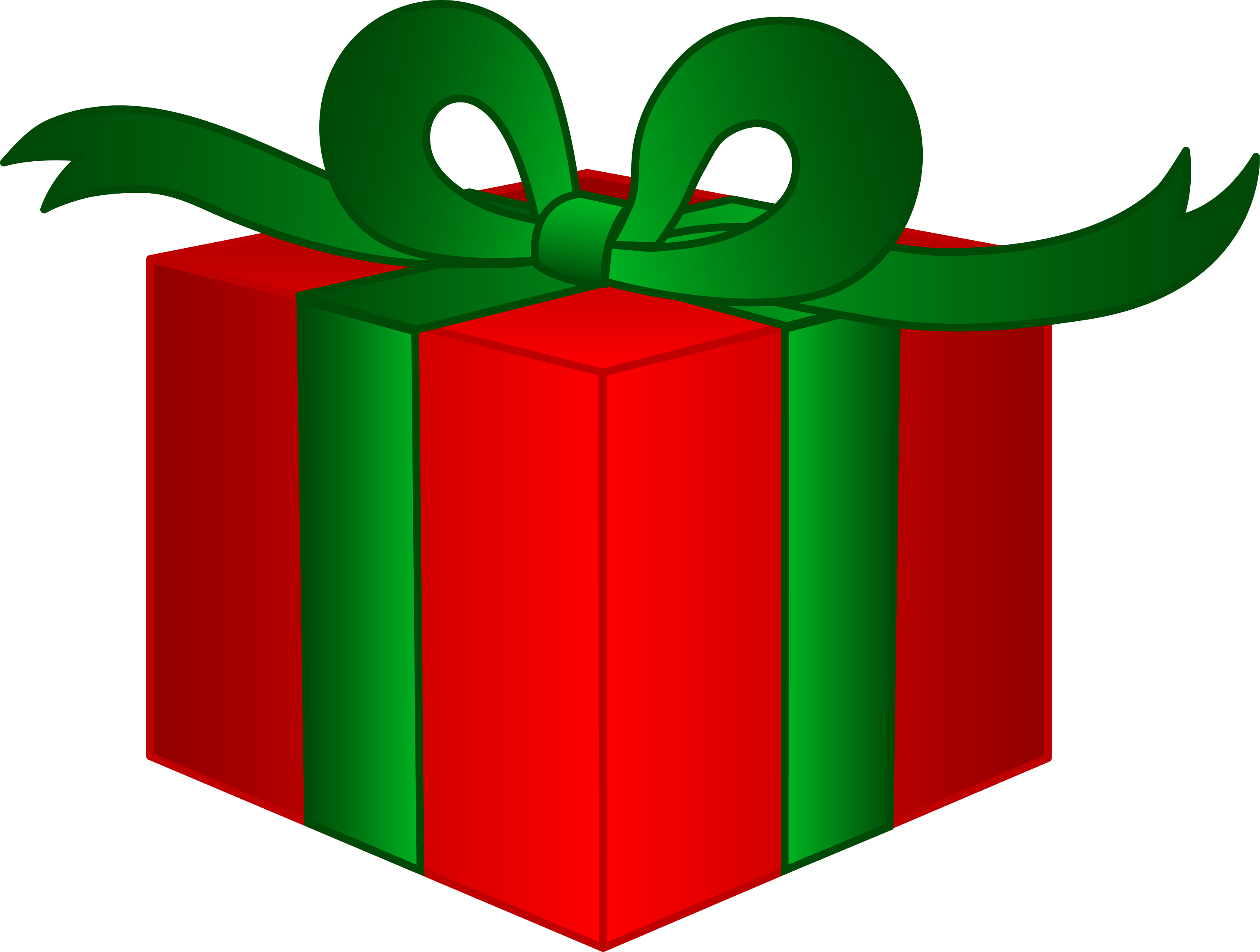 Fancy Christmas Present - Free Clip Art