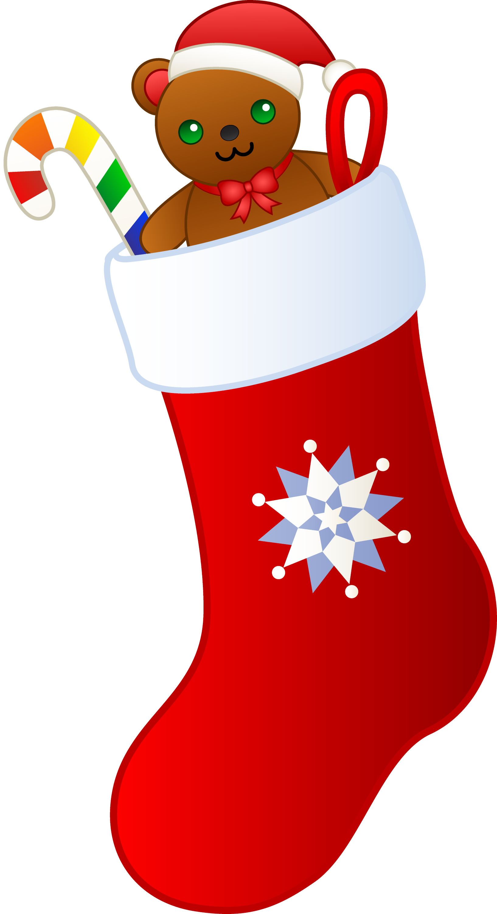 Christmas Stocking Filled With Gifts - Free Clip Art