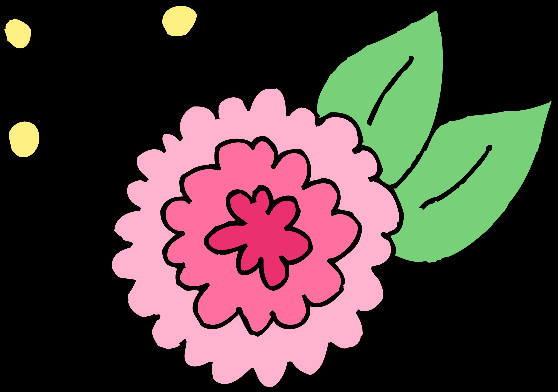 Cute Pink Chrysanthemum Flower - Free Clip Art