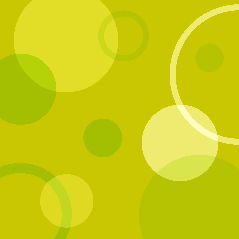 Yellow Green Circles Background Free Clip Art