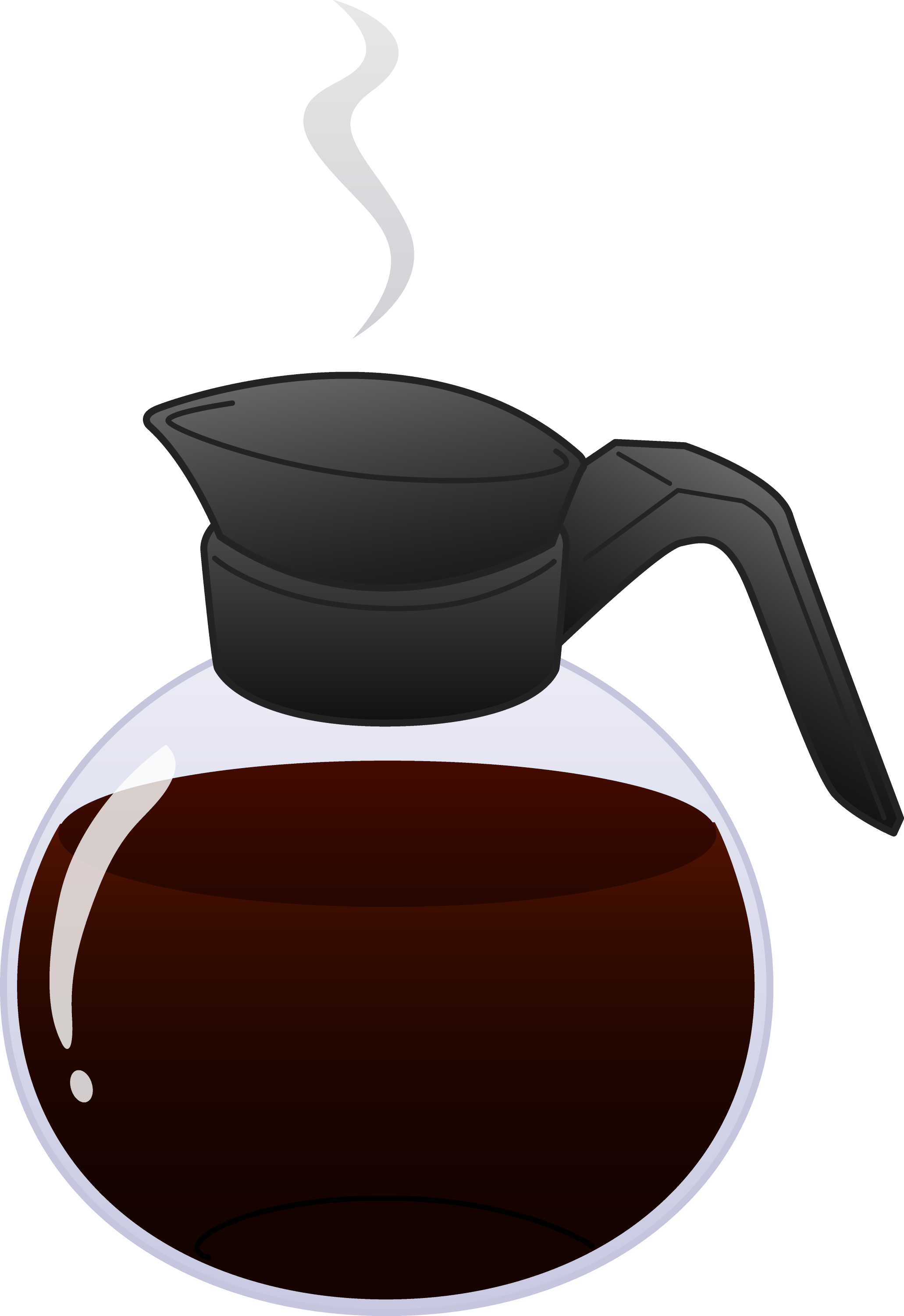 Pot of Hot Coffee - Free Clip Art