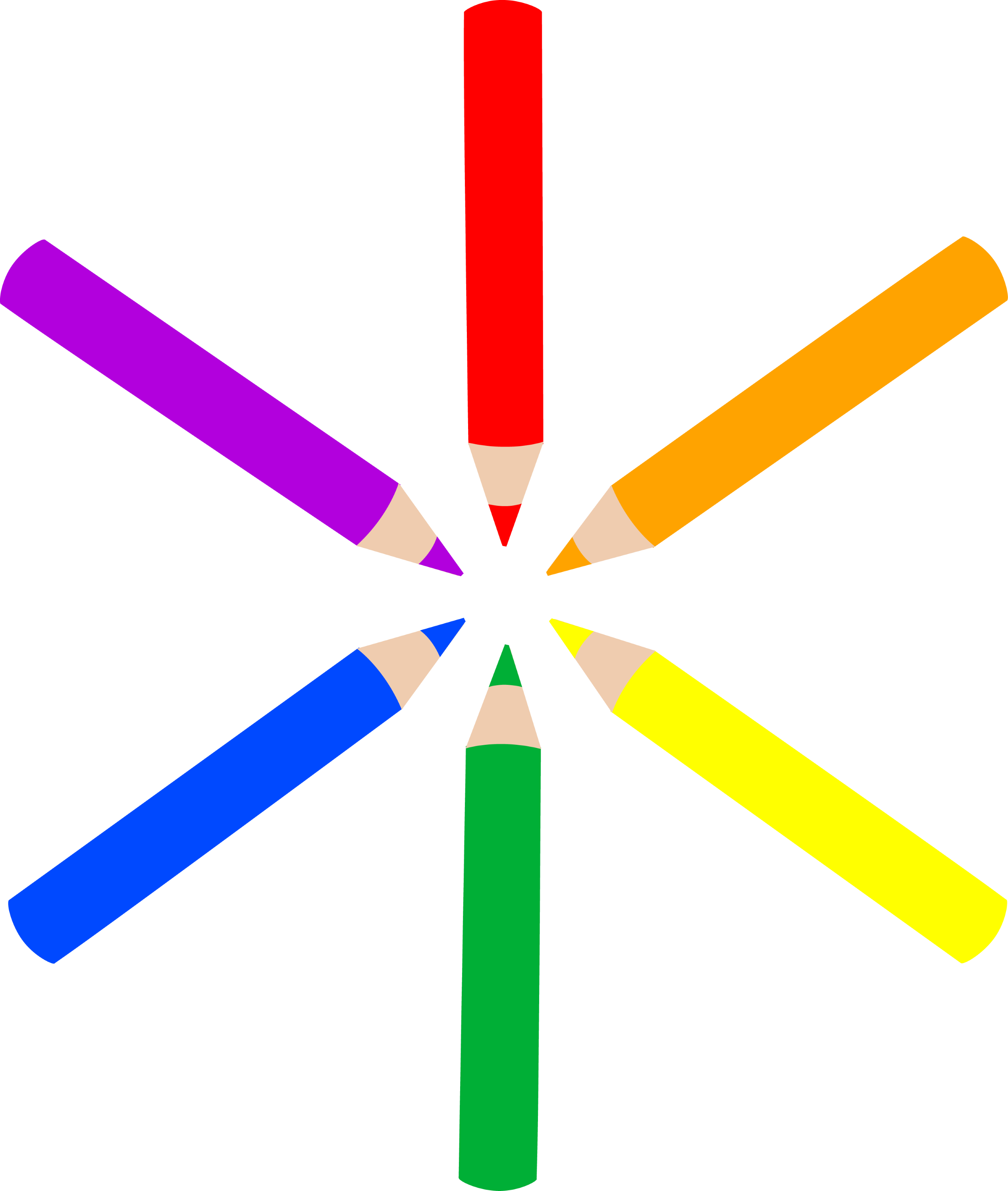 Pattern of Mini Colored Pencils - Free Clip Art