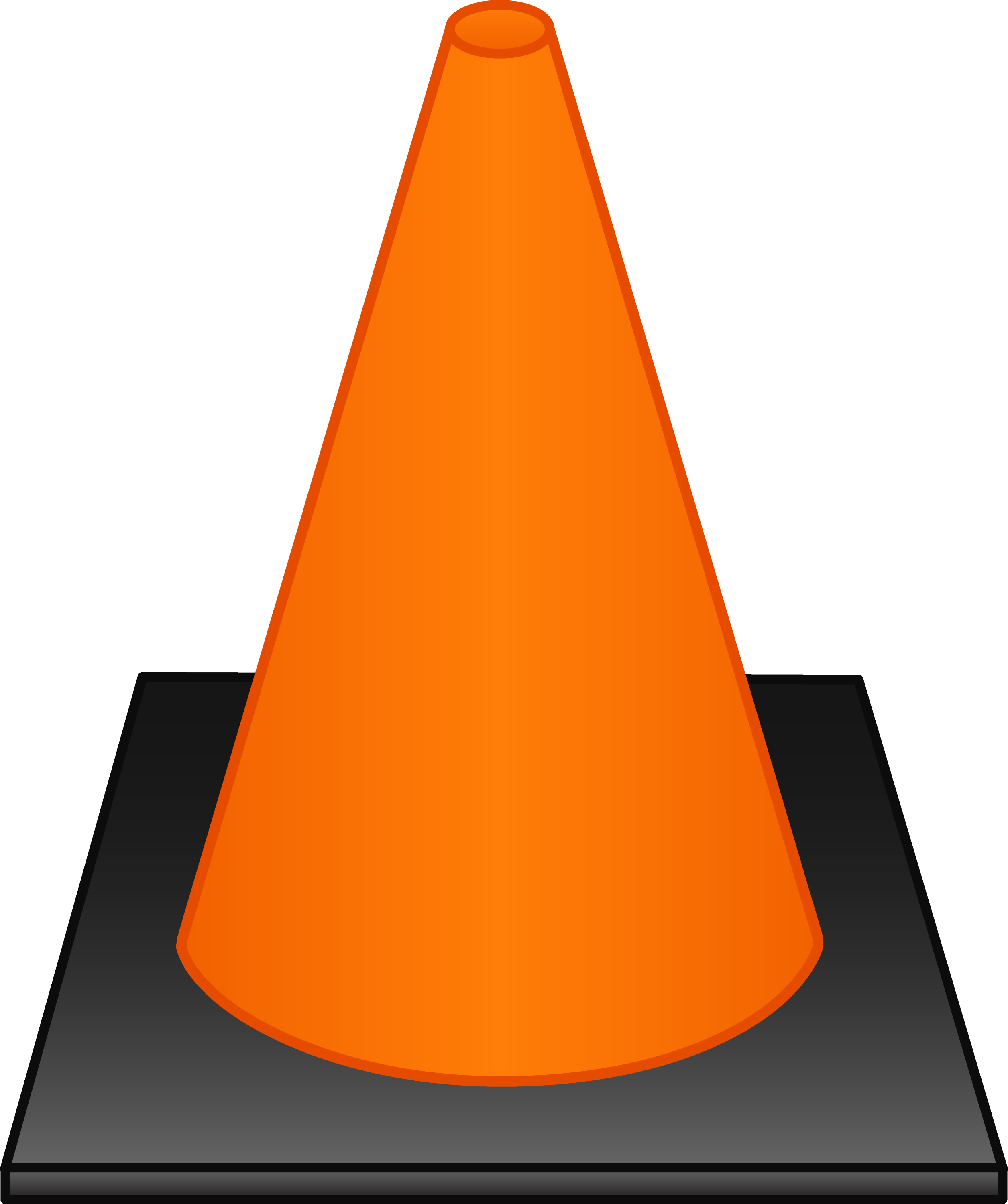 Orange Traffic Cone  Free Clip Art