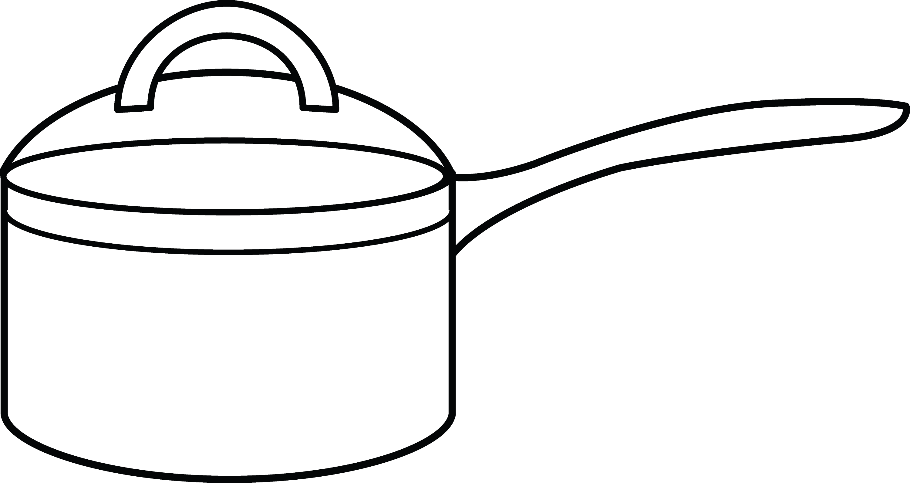 pots coloring pages | Cooking Pot Coloring Page - Free Clip Art