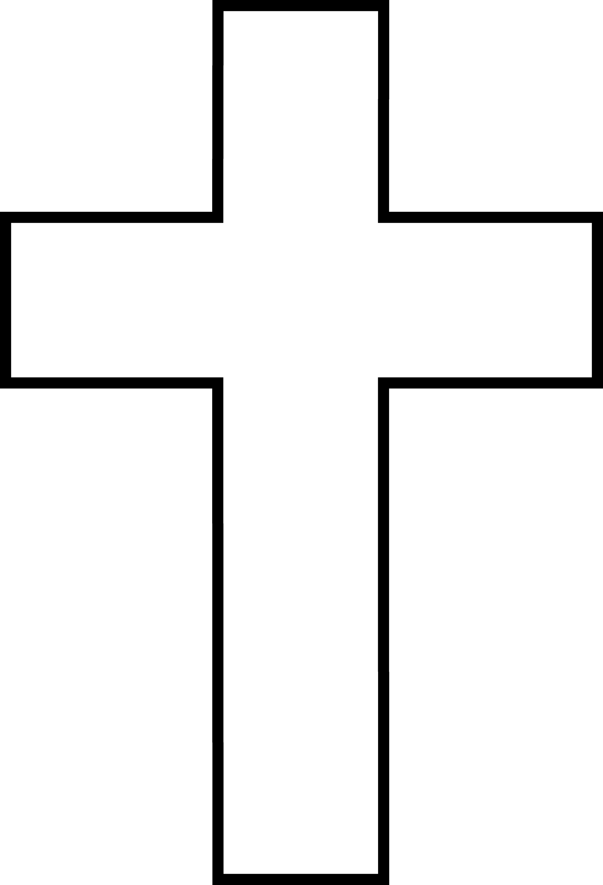Line Art Cross : Black and white cross free clip art