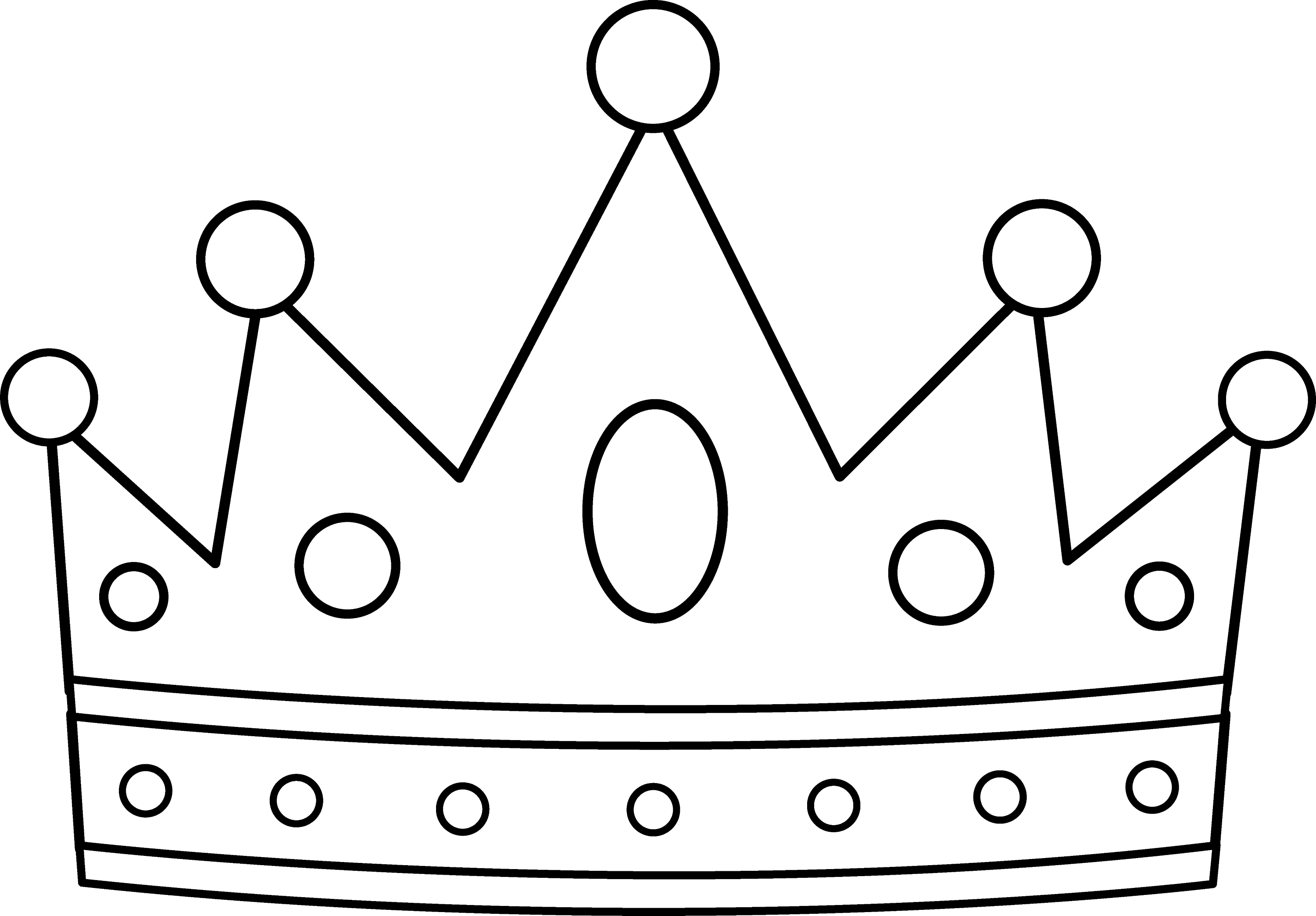 Simple king crown outline - photo#6