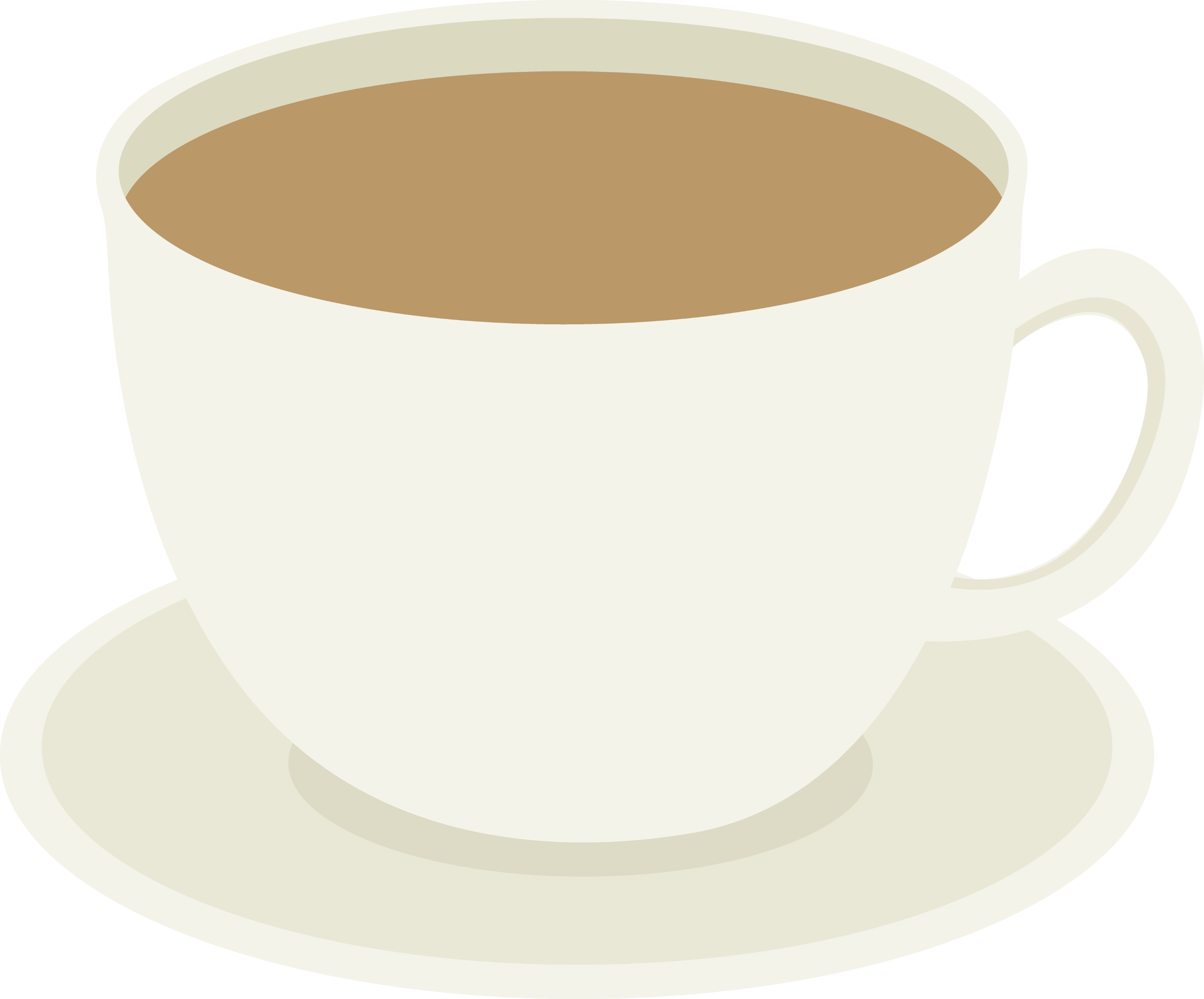 Cup of Coffee on Plate - Free Clip Art