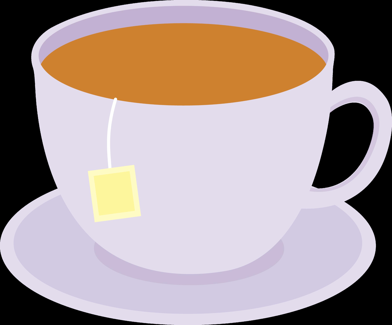 Food Clip Art of Hot Tea on a Saucer by David Rey - #1765 |Hot Tea Art