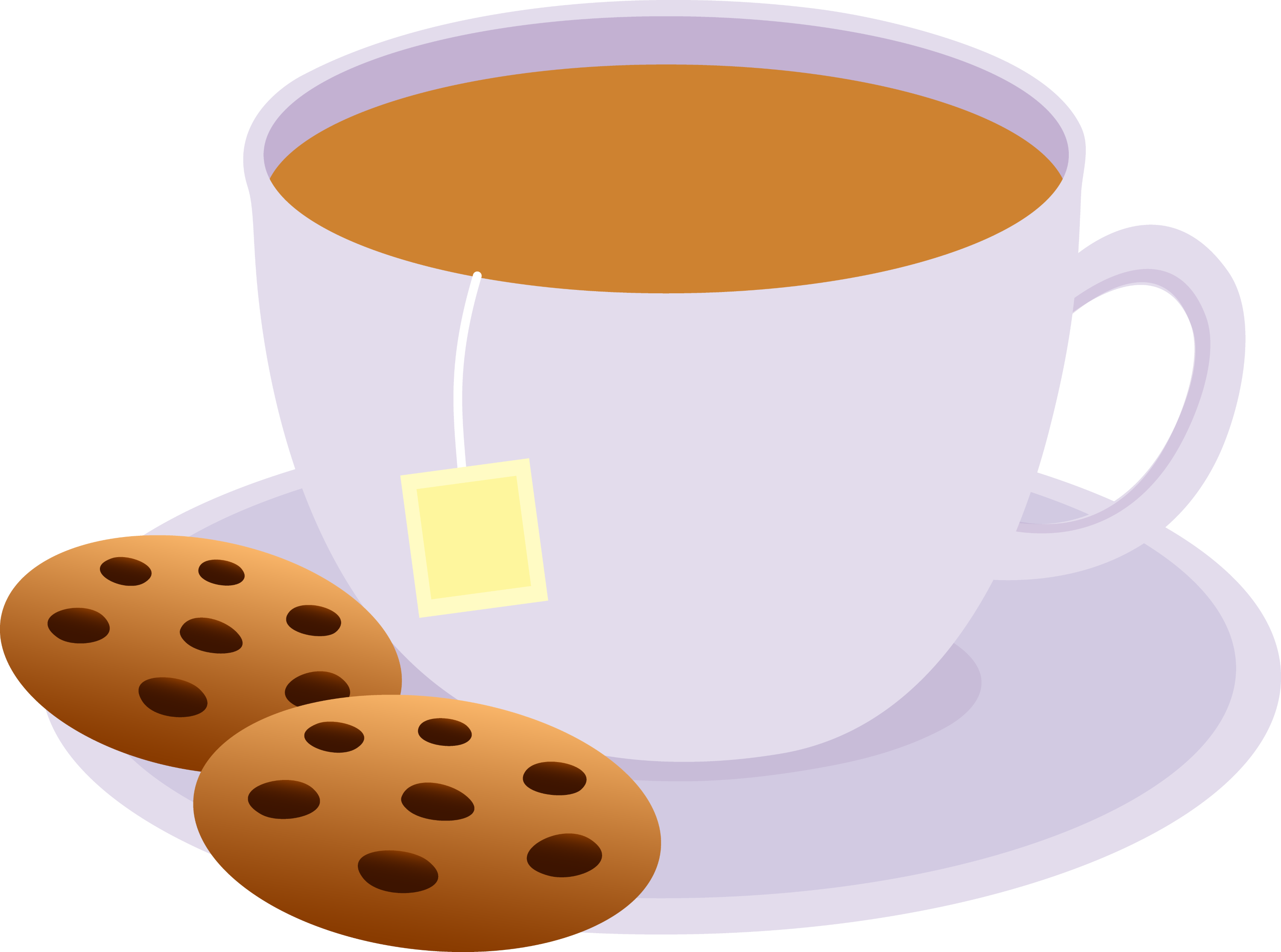 cup of tea with chocolate chip cookies free clip art rh sweetclipart com tea cup clipart tea clip art free
