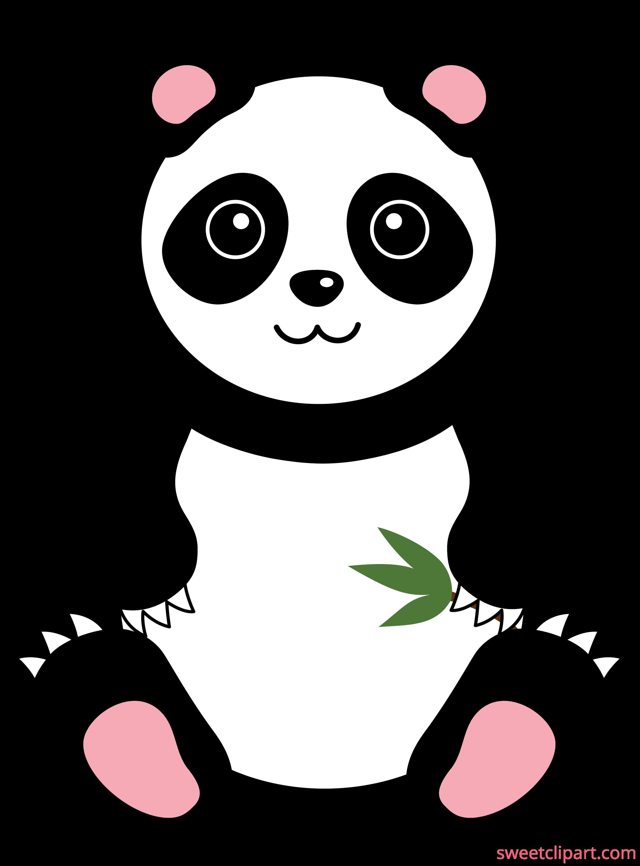 Cute Giant Panda Bear - Free Clip Art