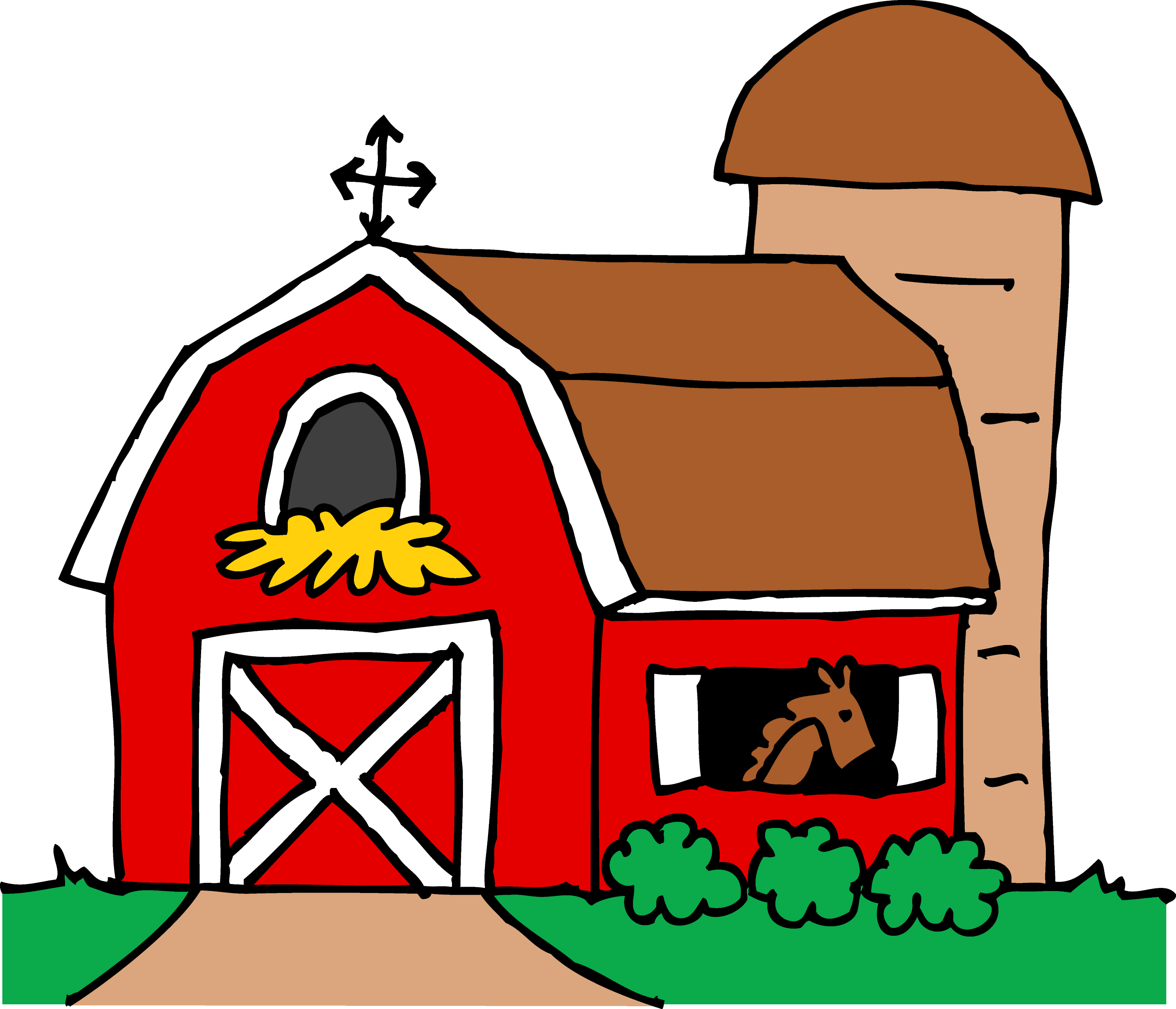 Little Red Barn Clipart - Free Clip Art for Red Farmhouse Clipart  35fsj