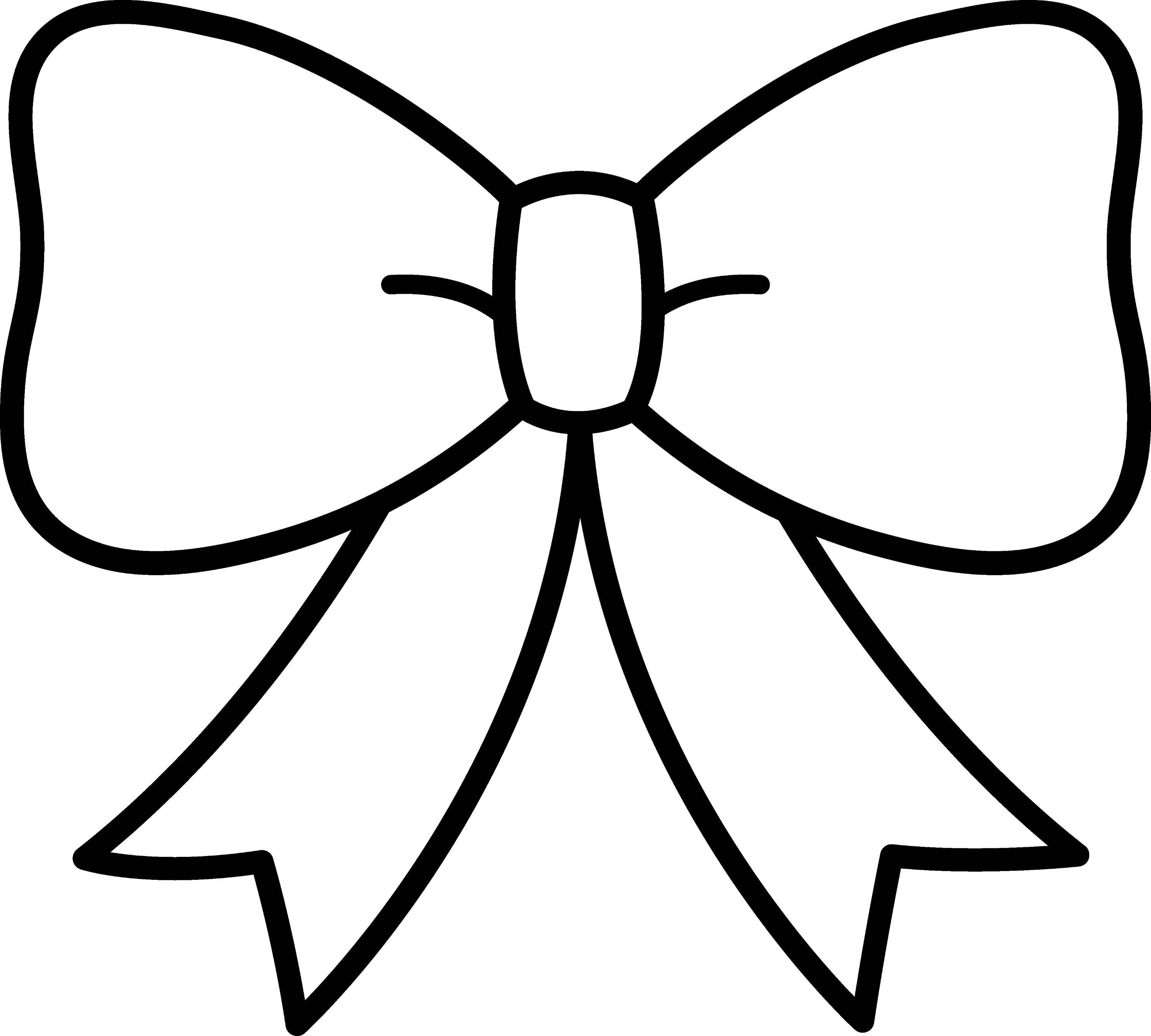 Black And White Bow Design Free Clip Art Ribbon Coloring Page