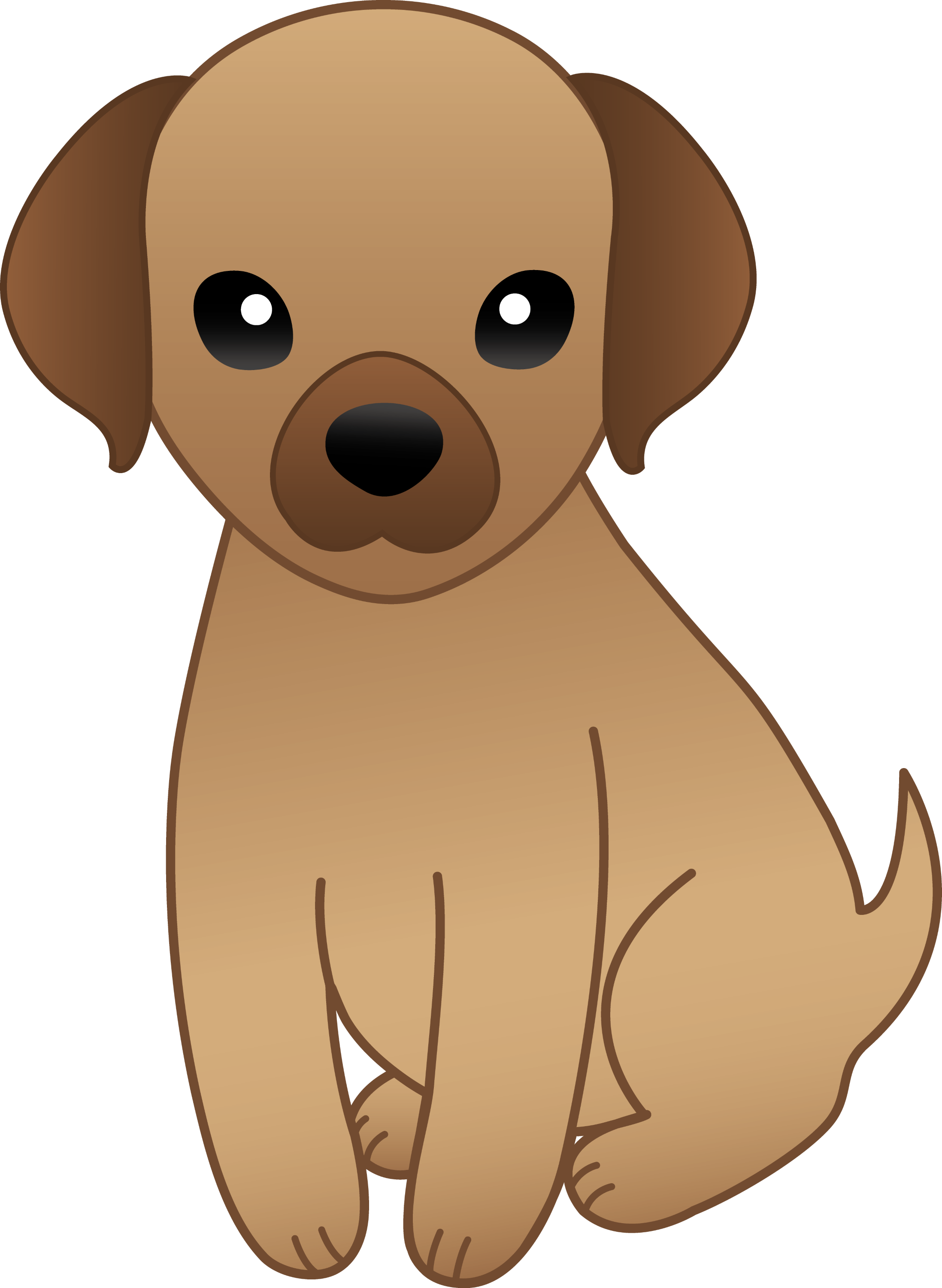Little Brown Puppy - Free Clip Art