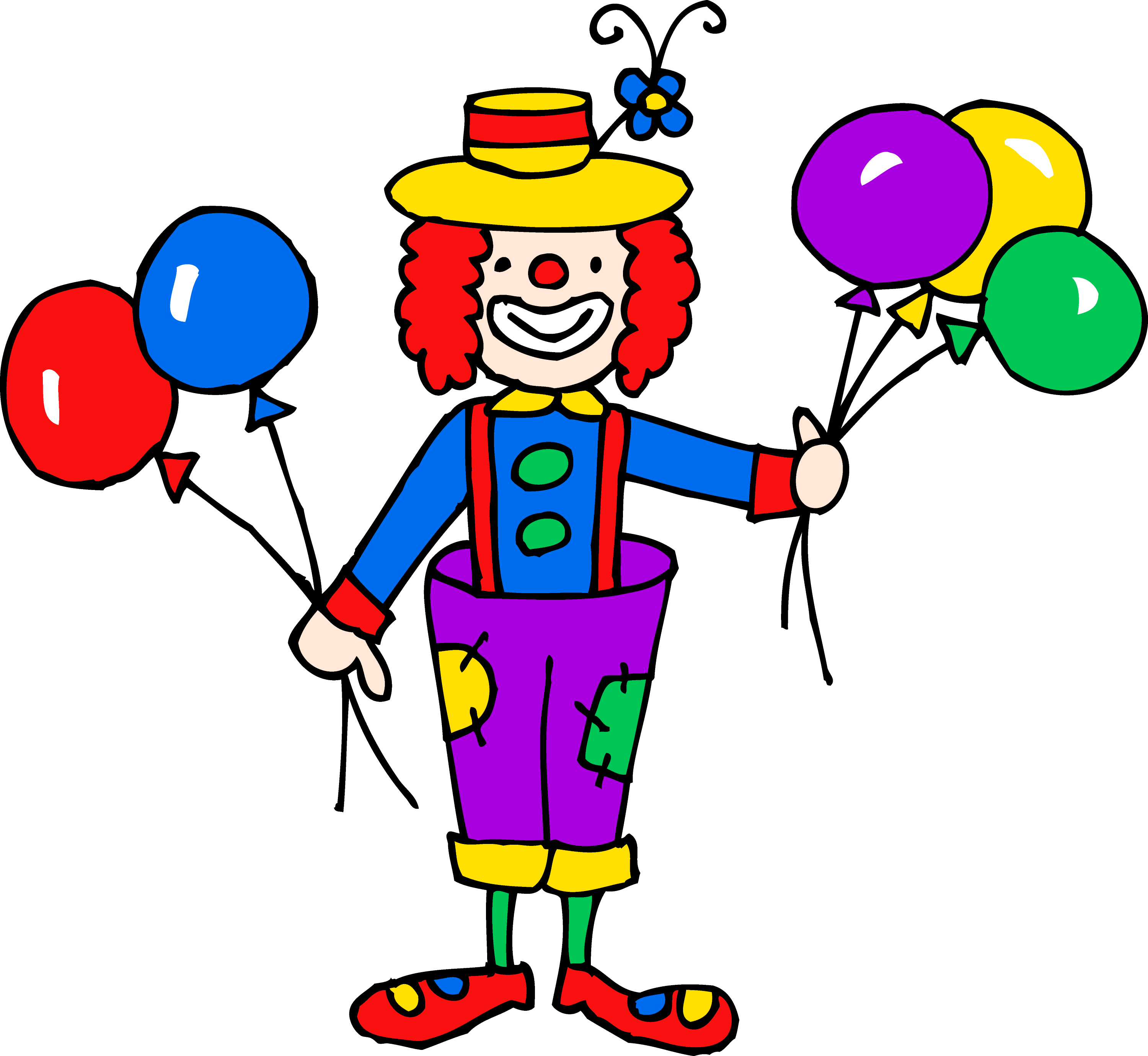 cute colorful clown clipart free clip art rh sweetclipart com free crown clip art download free clown clip art images
