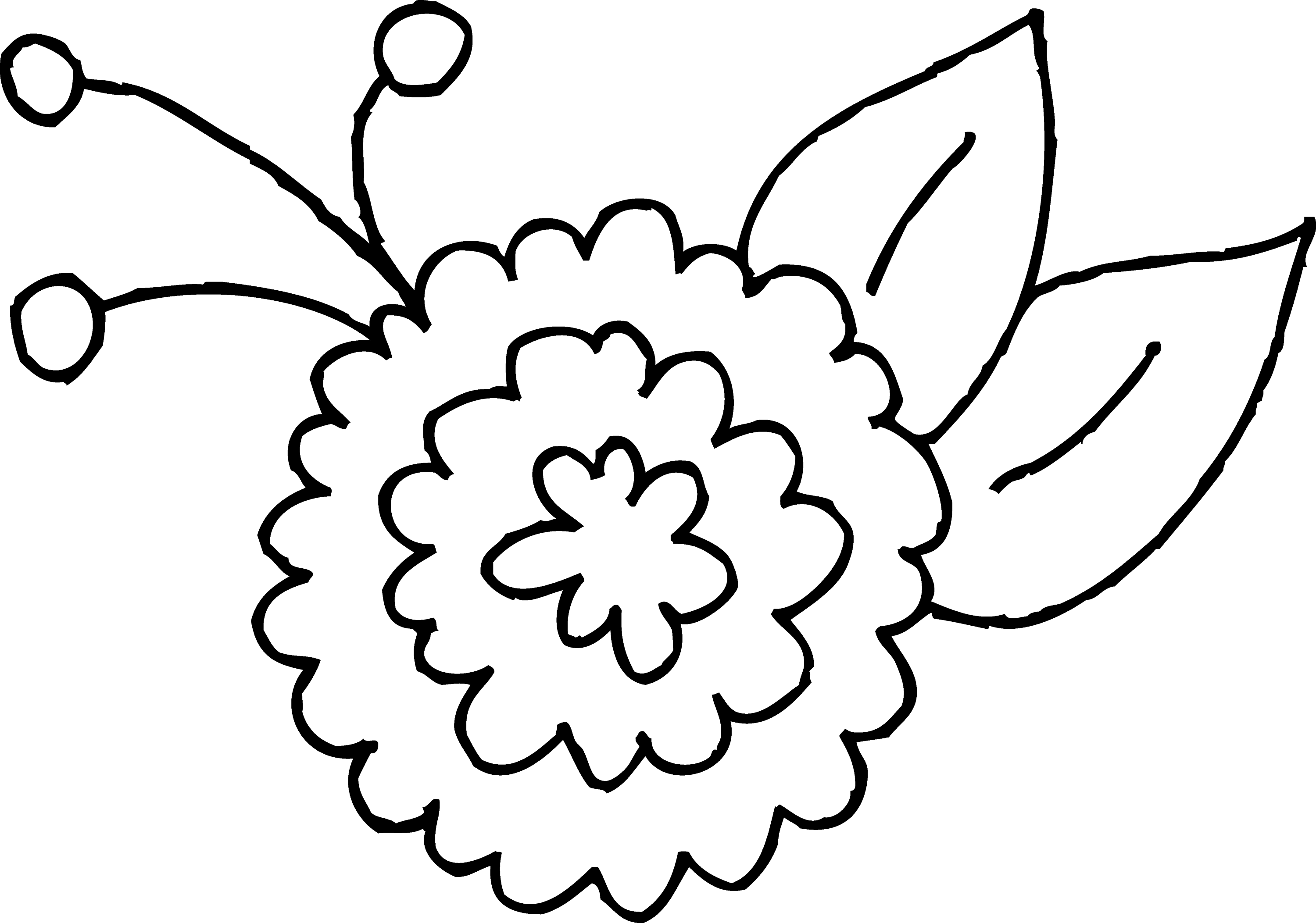 cute spring flower coloring page 2 free clip art