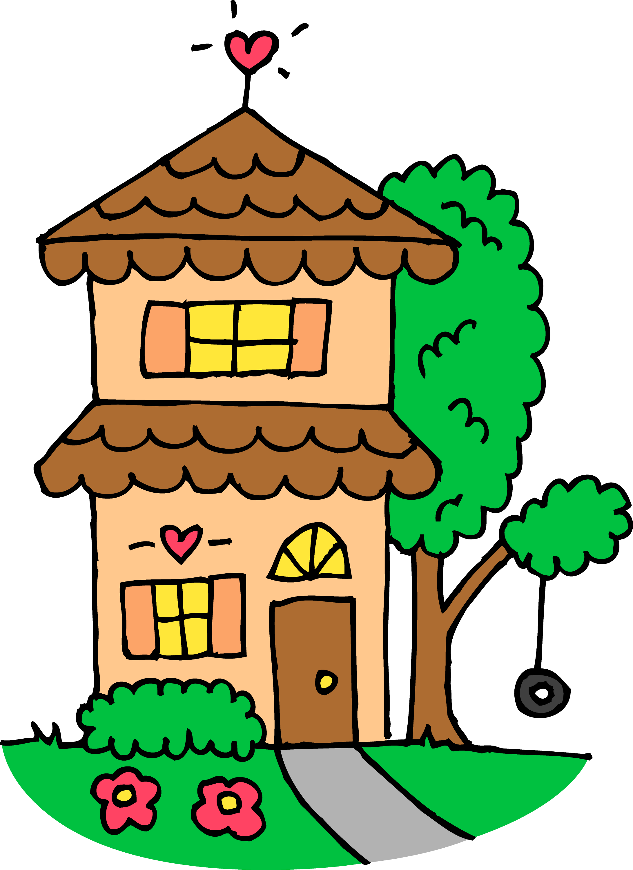 cute orange two story house free clip art rh sweetclipart com houses clip art free houses clipart images