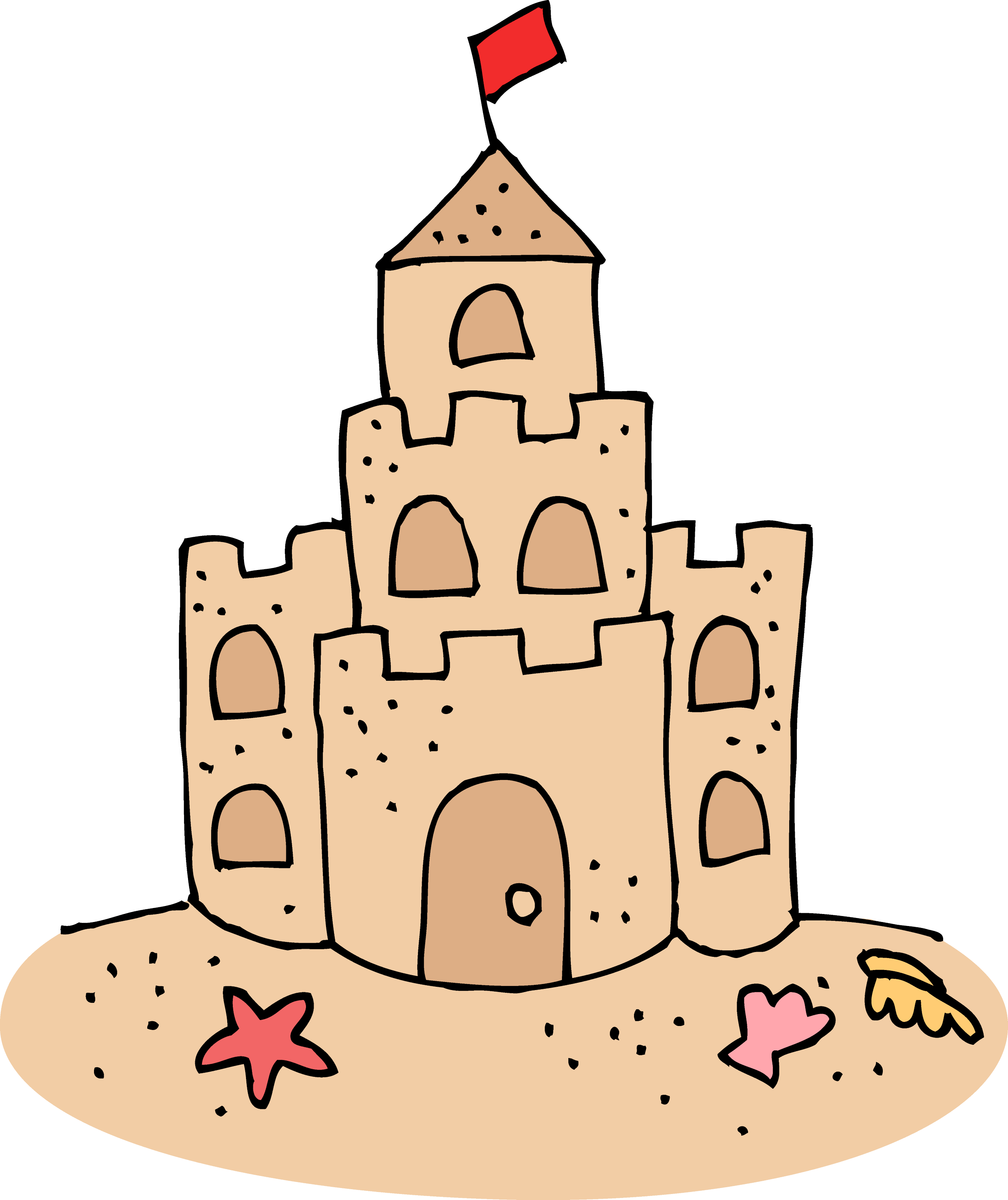 Cute Sand Castle Clipart