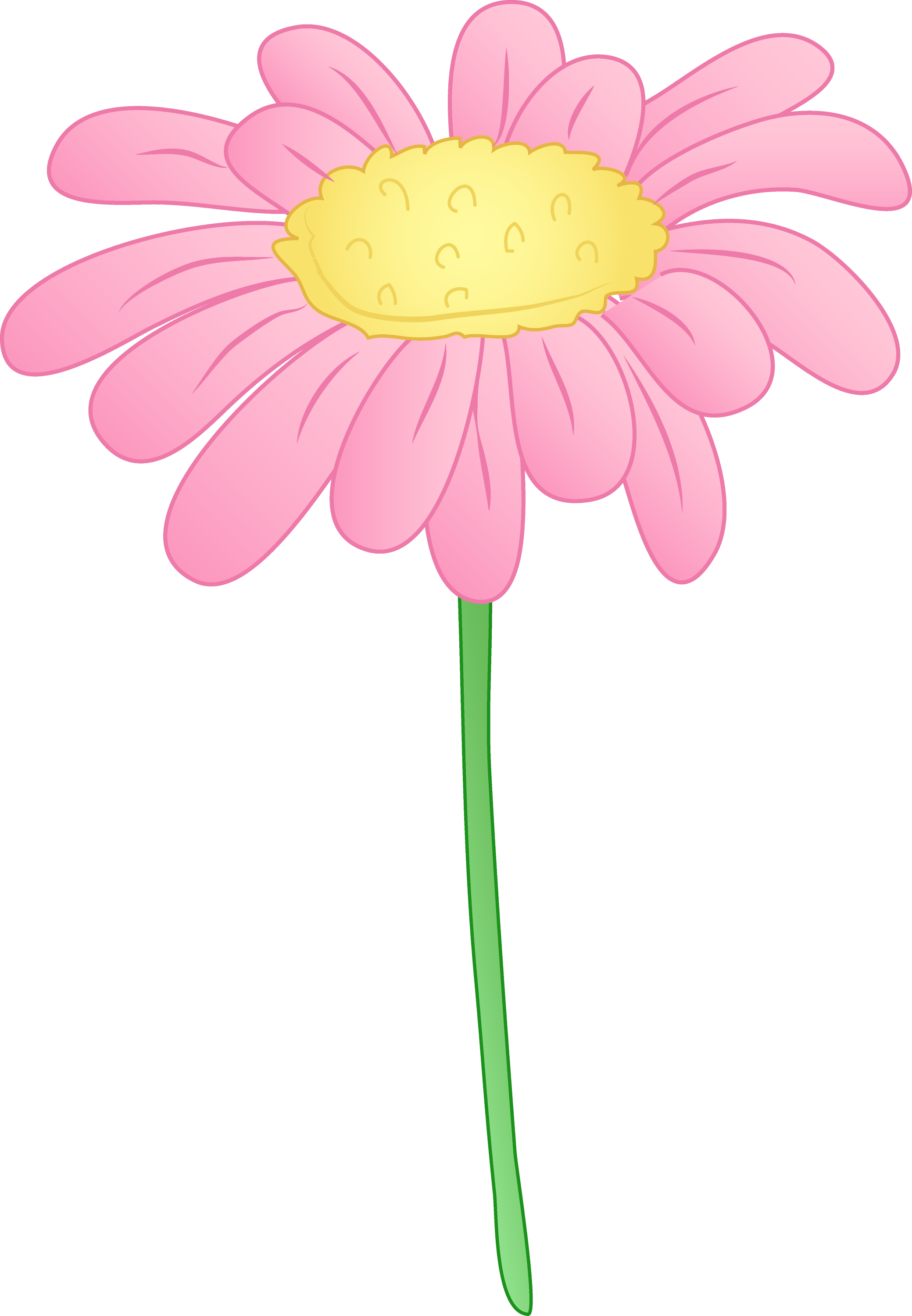 Pretty Pink Daisy Flower Free Clip Art