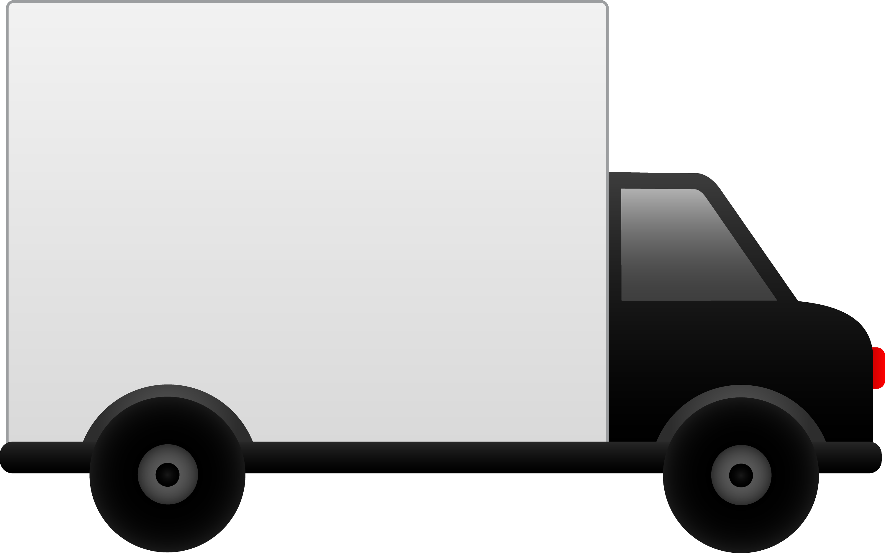 White Delivery Truck - Free Clip Art