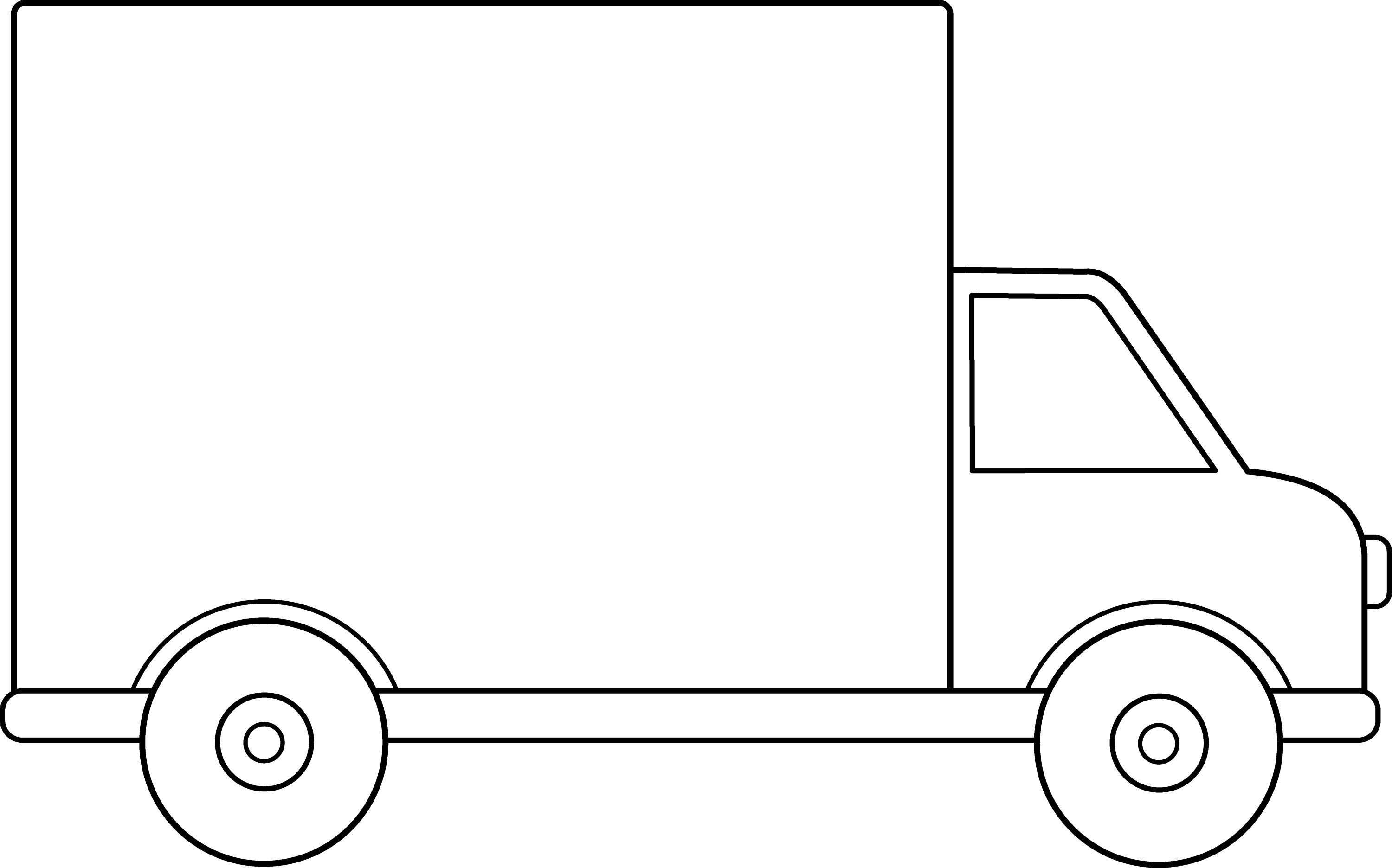 Line Art Truck : Truck line drawing
