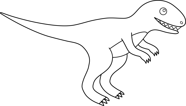 Tyrannosaurus Rex Line Art - Free Clip Art