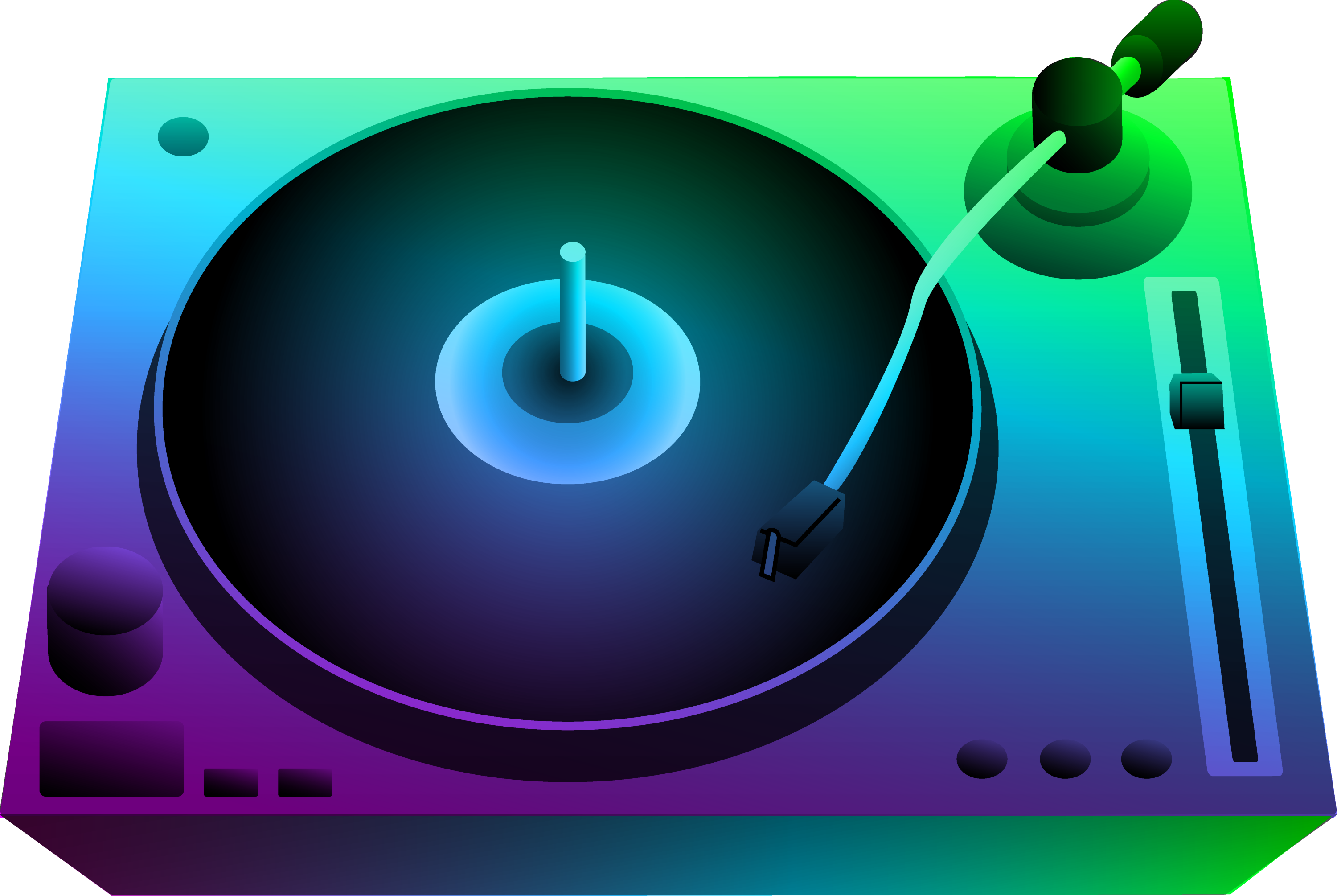neon turntable clipart
