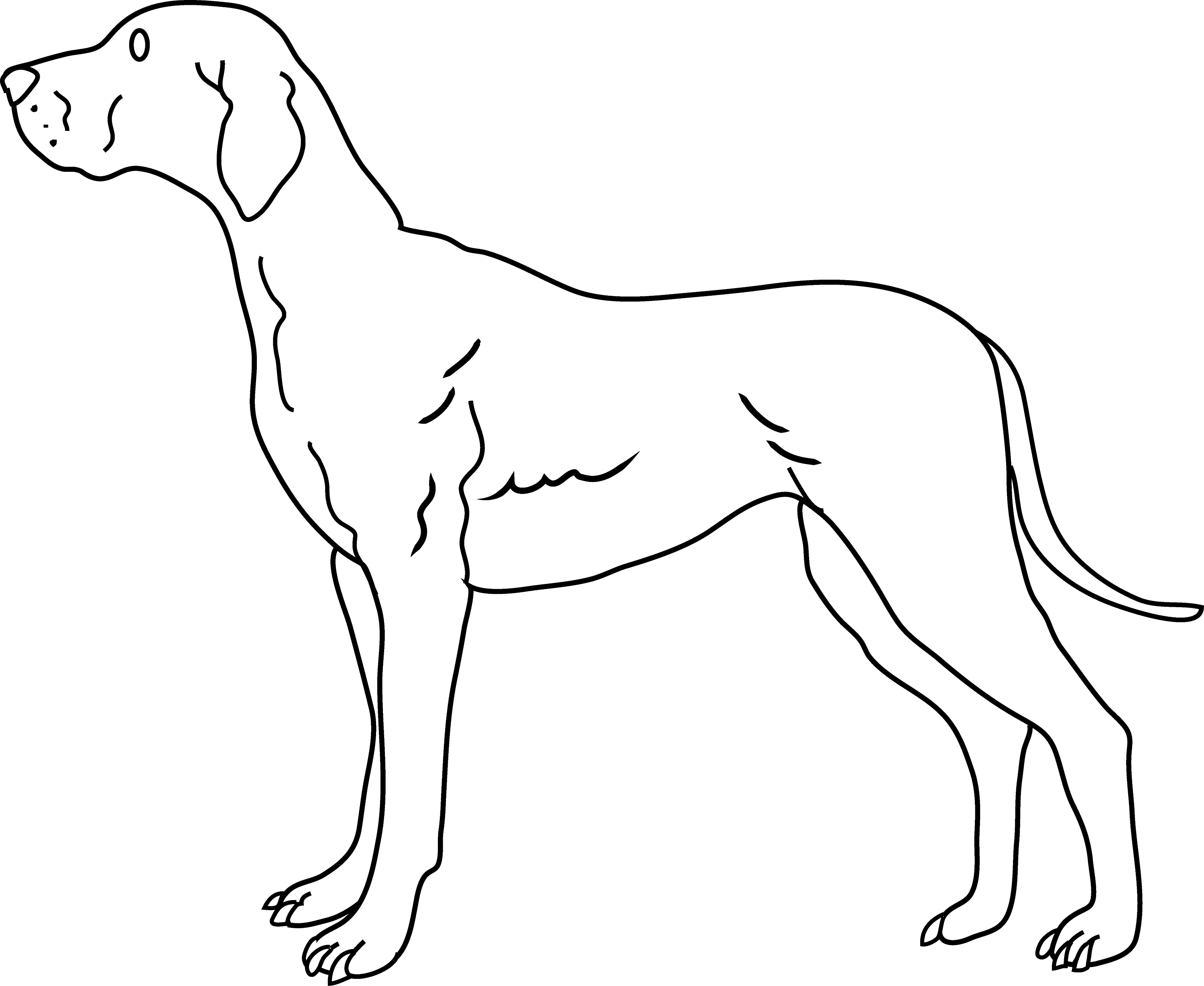 Line Drawing Of Dog : Dog clip art coloring pages