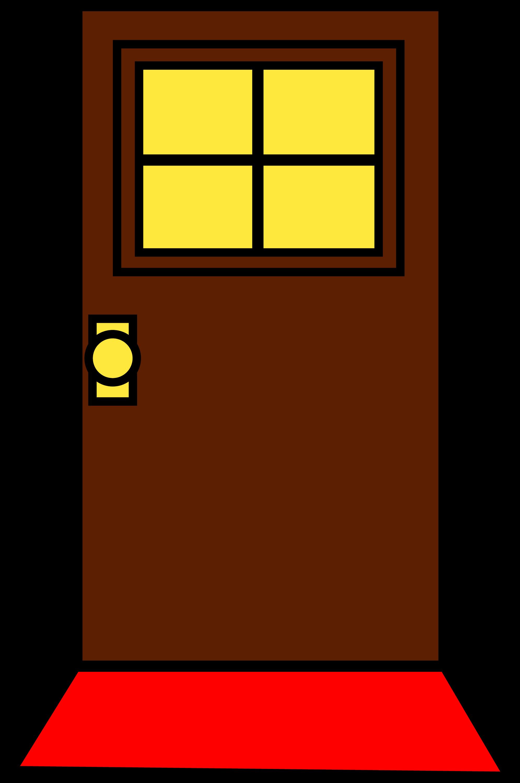 Simple Brown Door Design Free Clip Art