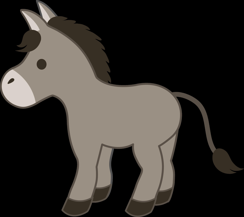 cute gray donkey free clip art rh sweetclipart com donkey clip art free donkey clip art free