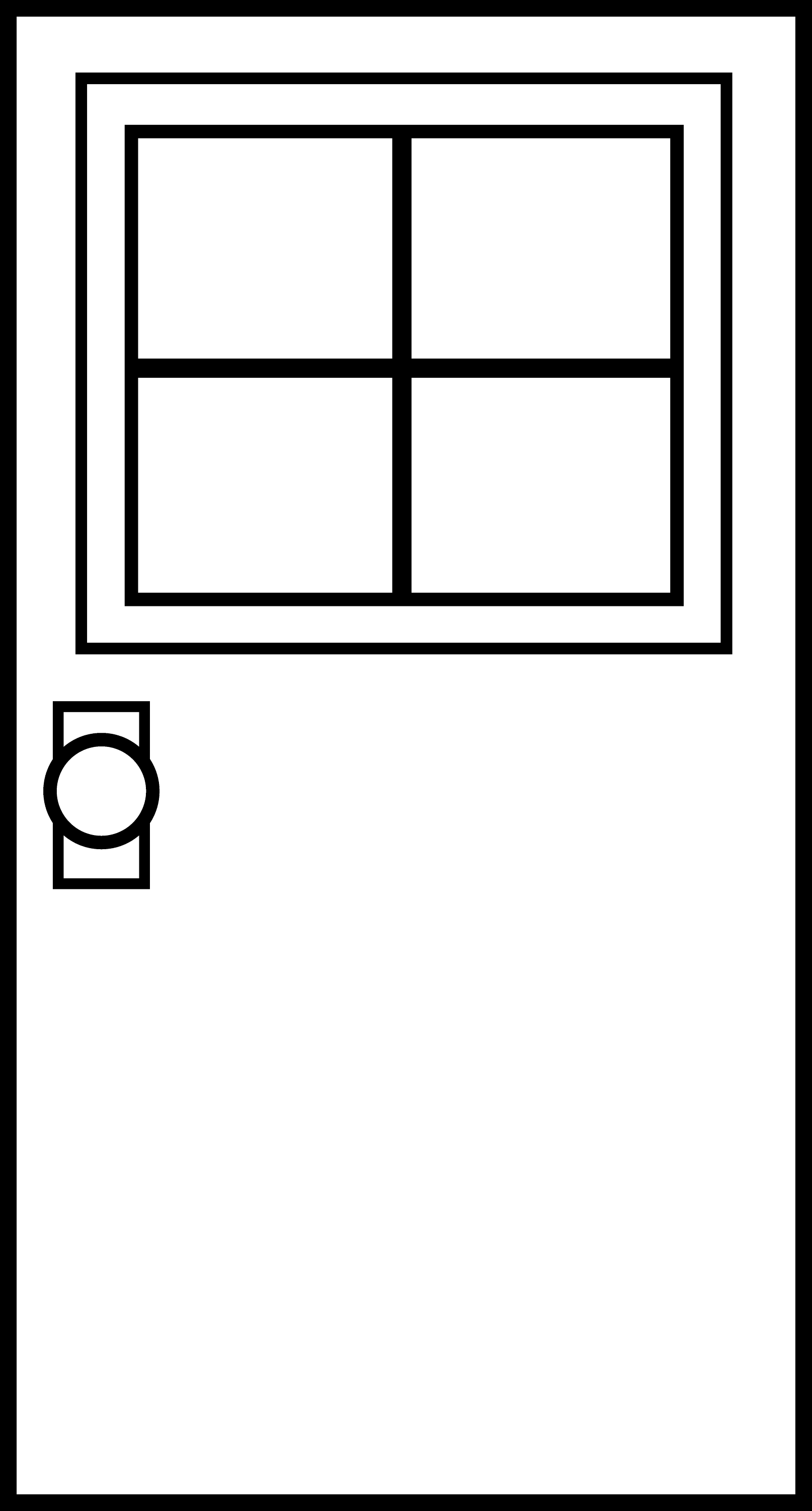Doors Coloring Pages Colorable Door Outline