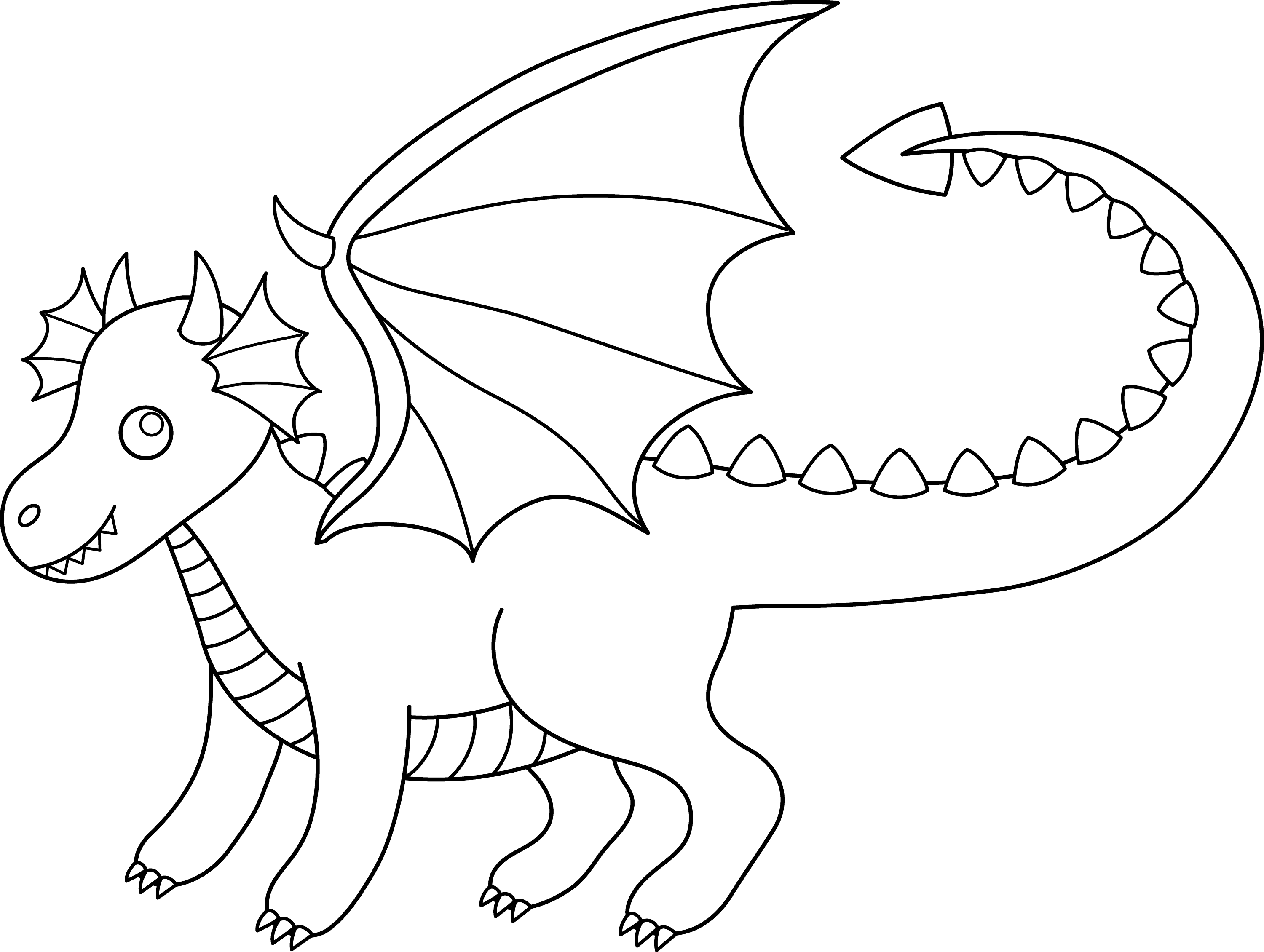 dragon clip art coloring pages - photo#1