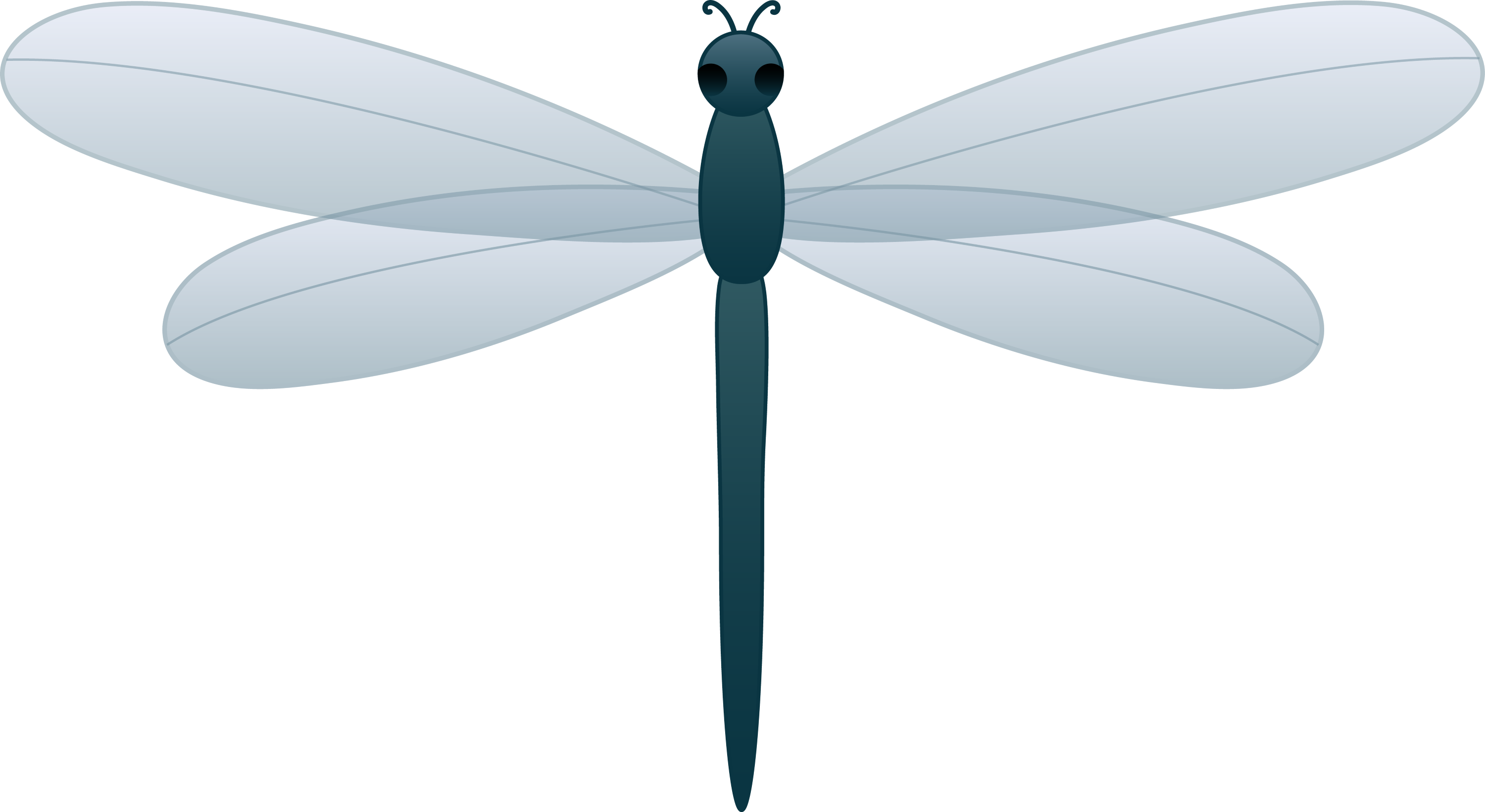 Blue Dragonfly - Free Clip Art