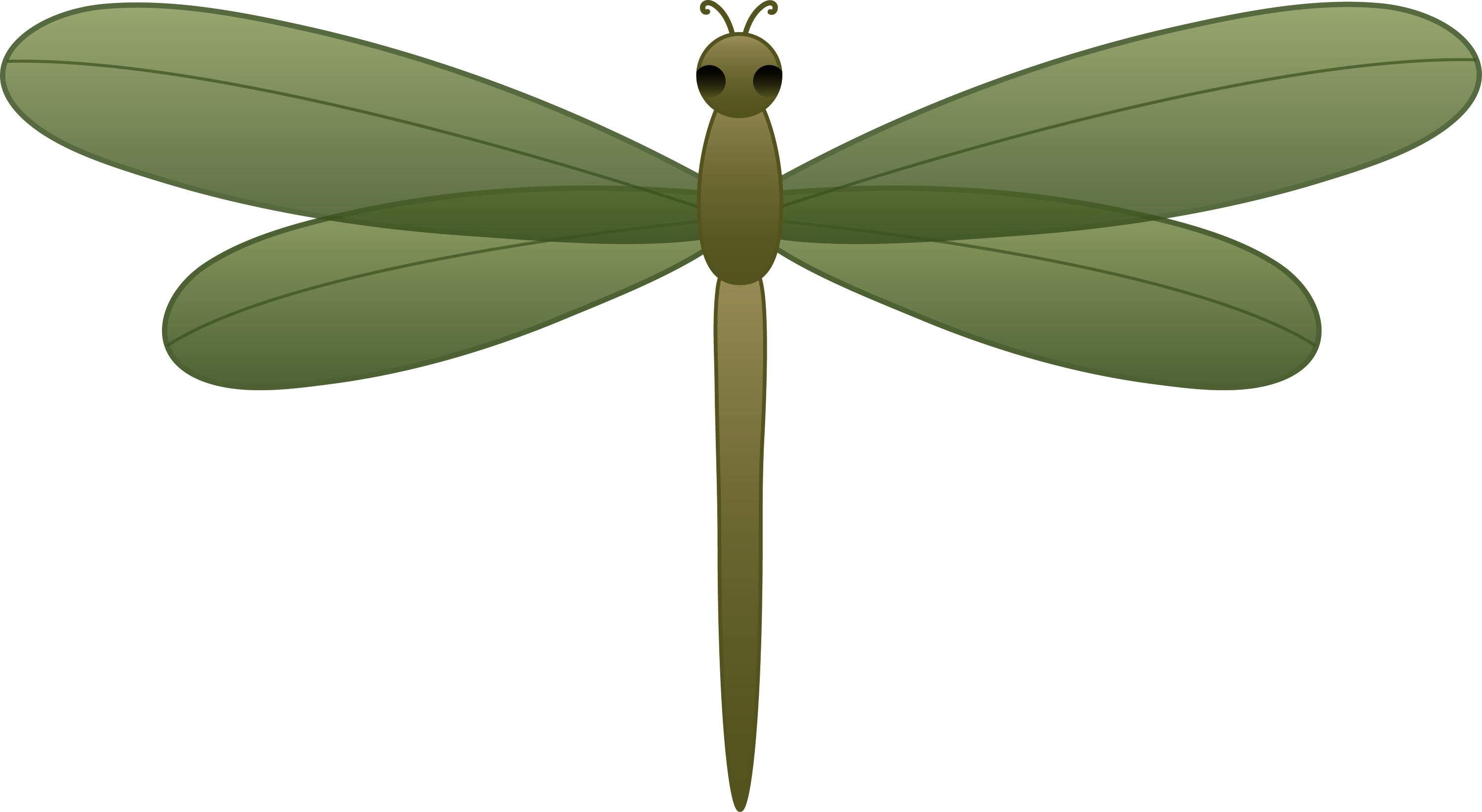 Green Dragonfly - Free Clip Art