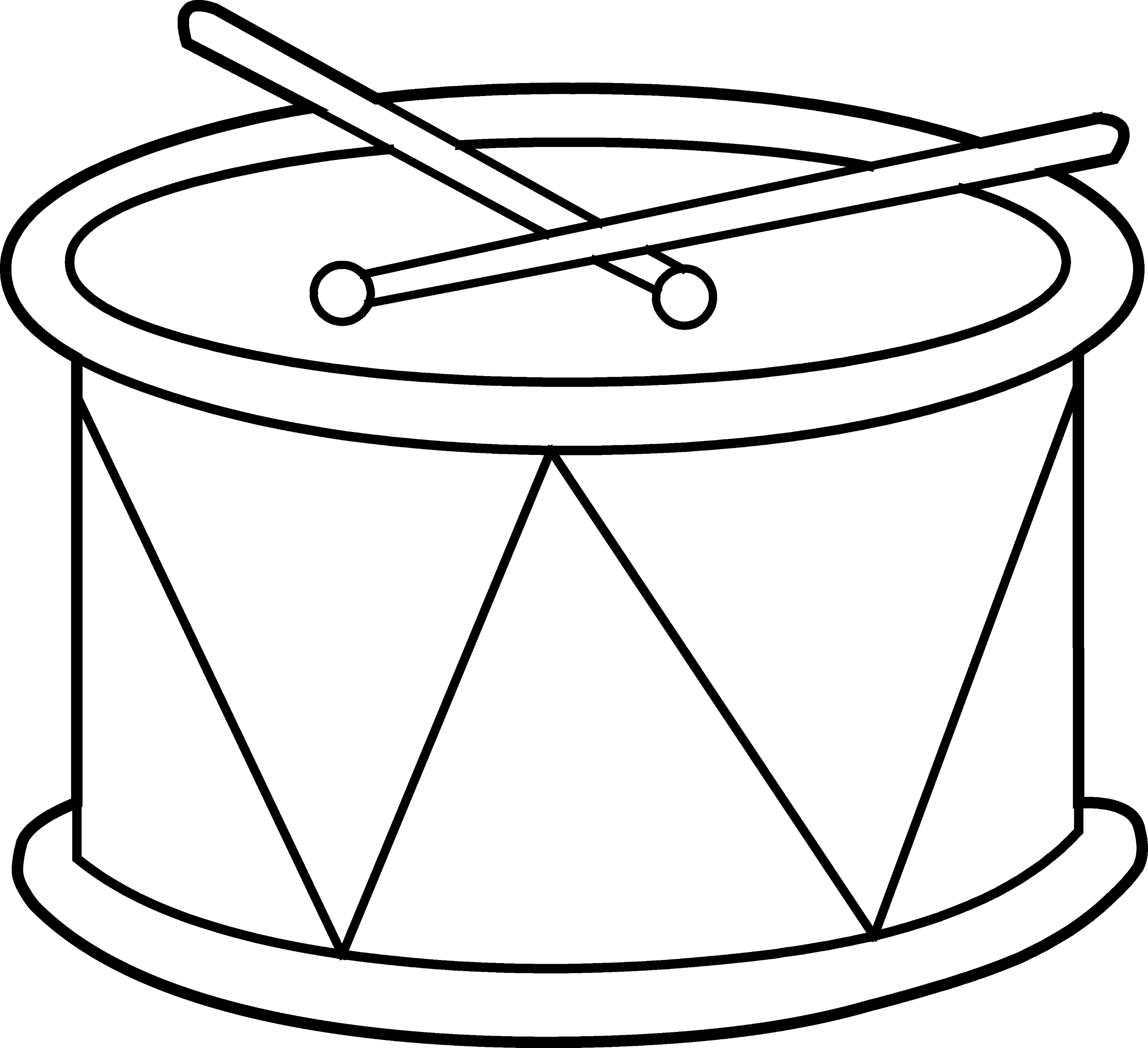 cute kids drum coloring page