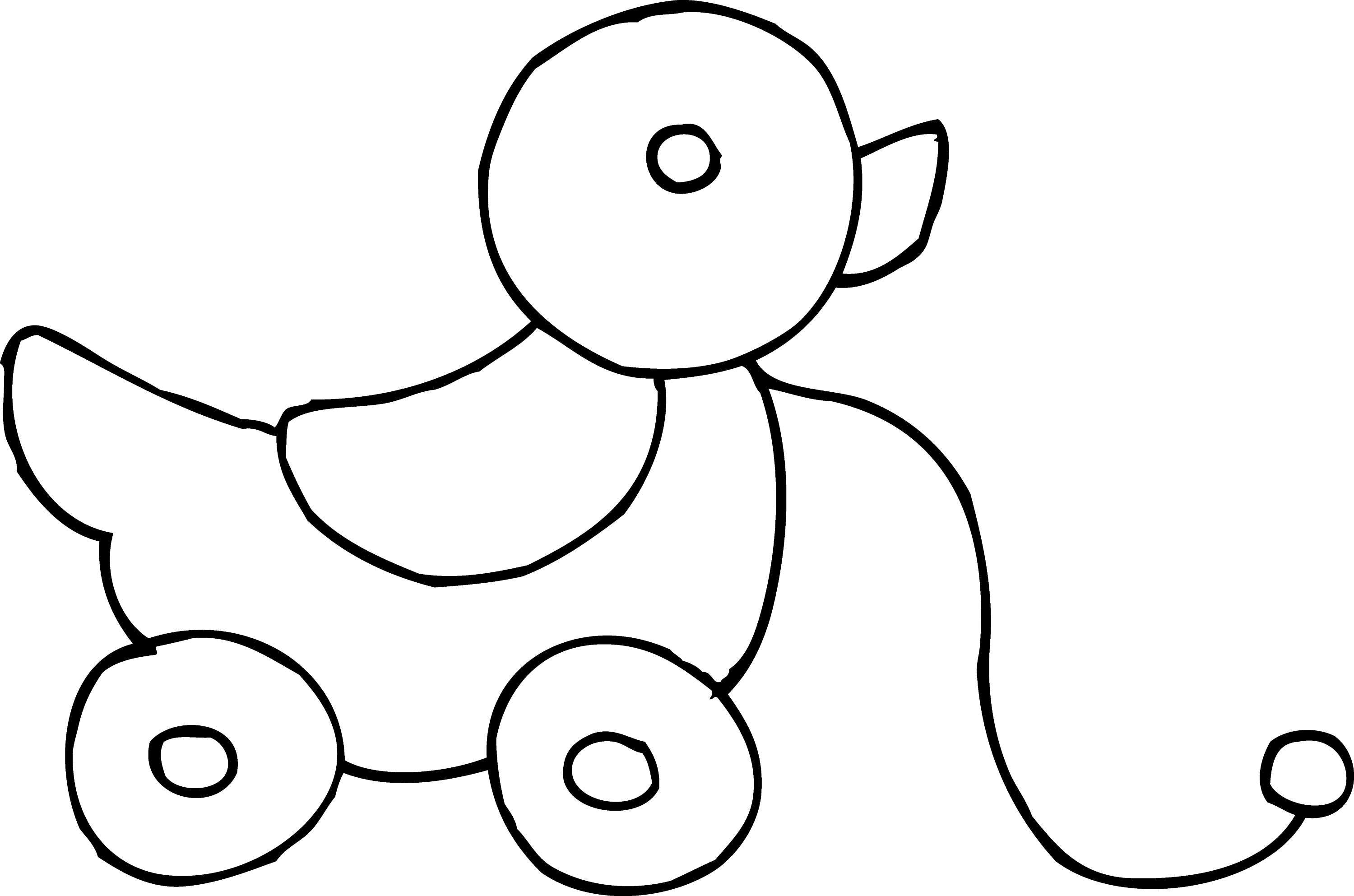 Rolling duck toy coloring page free clip art for Baby toys coloring pages