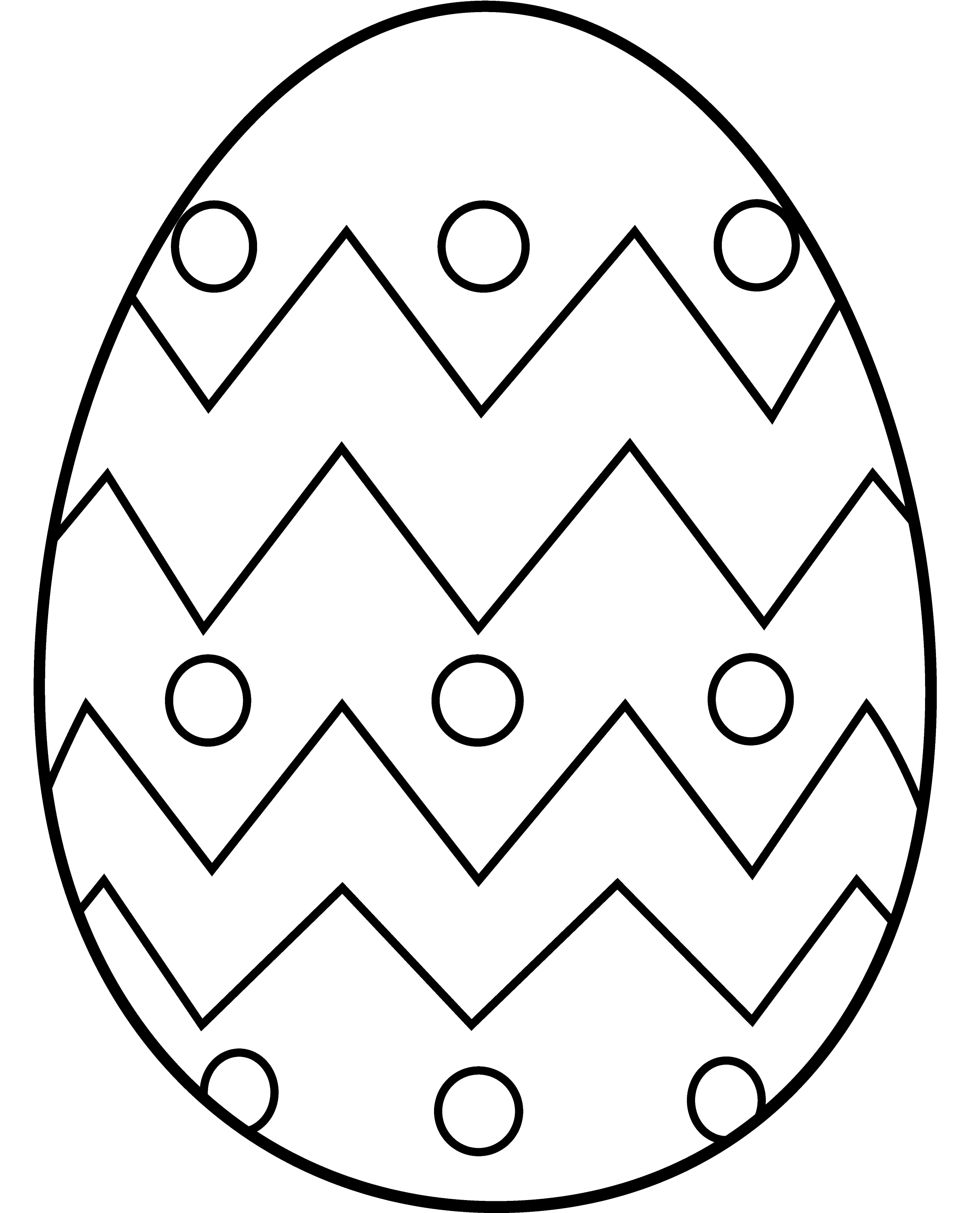 Line Drawing Easter : Easter egg coloring page free clip art