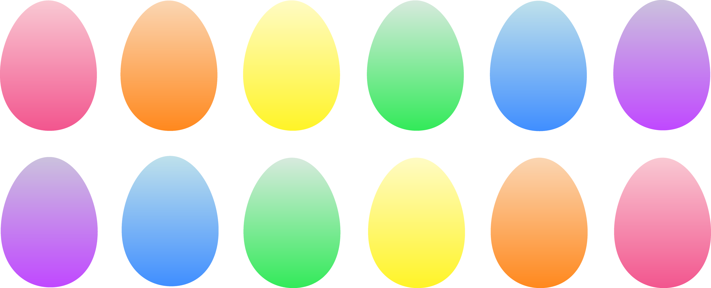 Clip Art Easter Eggs One dozen easter eggs