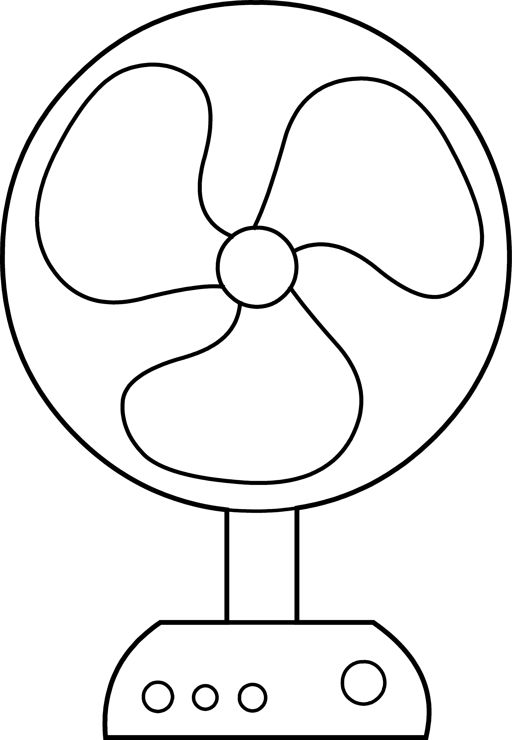 Electric Fan Line Art - Free Clip Art