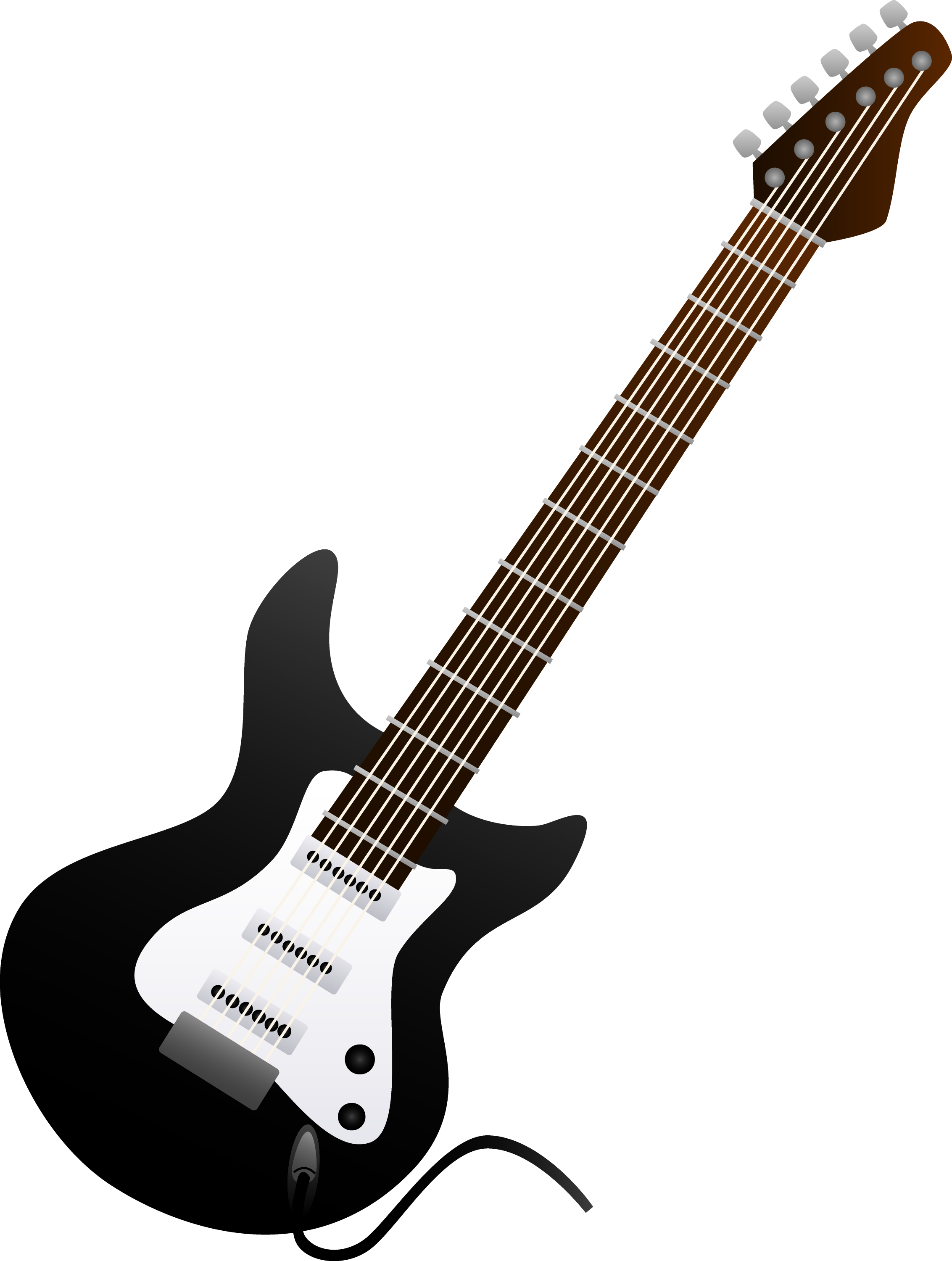 black electric guitar design free clip art. Black Bedroom Furniture Sets. Home Design Ideas