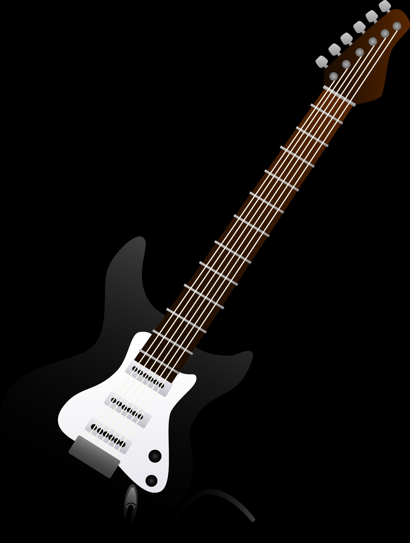 black electric guitar design free clip art. Black Bedroom Furniture Sets. Home Design Ideas