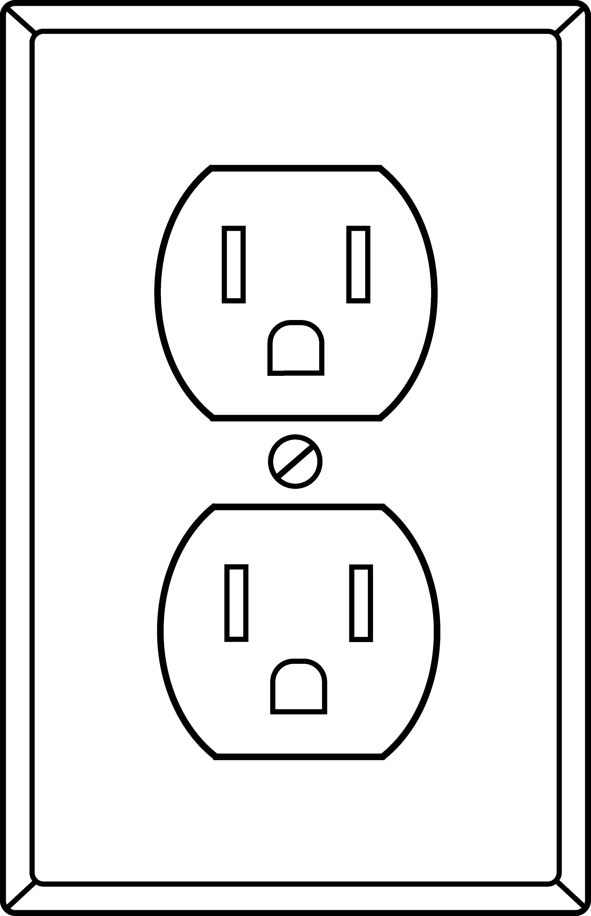 Power Plug Drawing Electrical Socket Outline