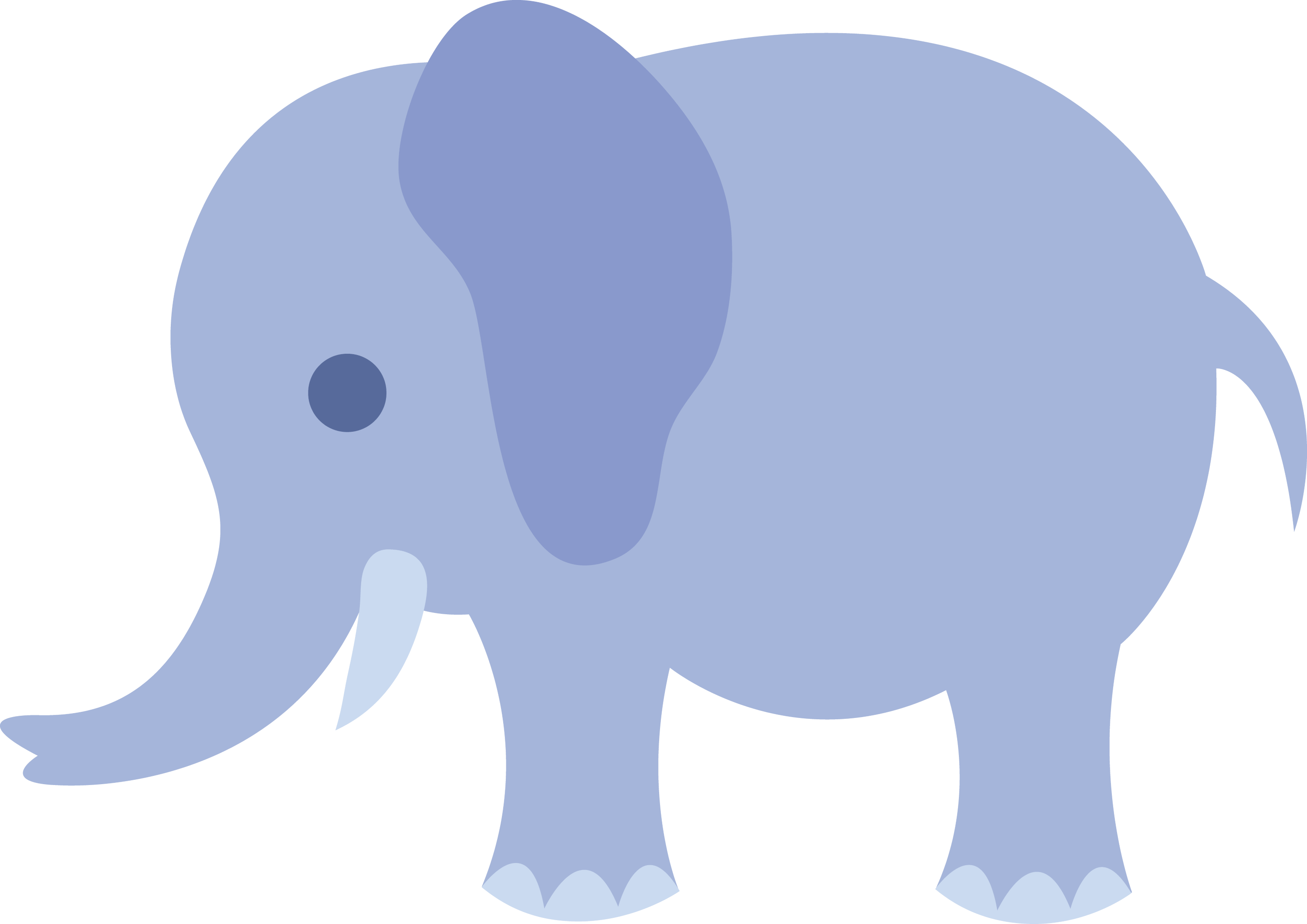 Little Blue Elephant - Free Clip Art