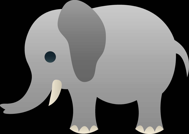 gray elephant free clip art - photo #1